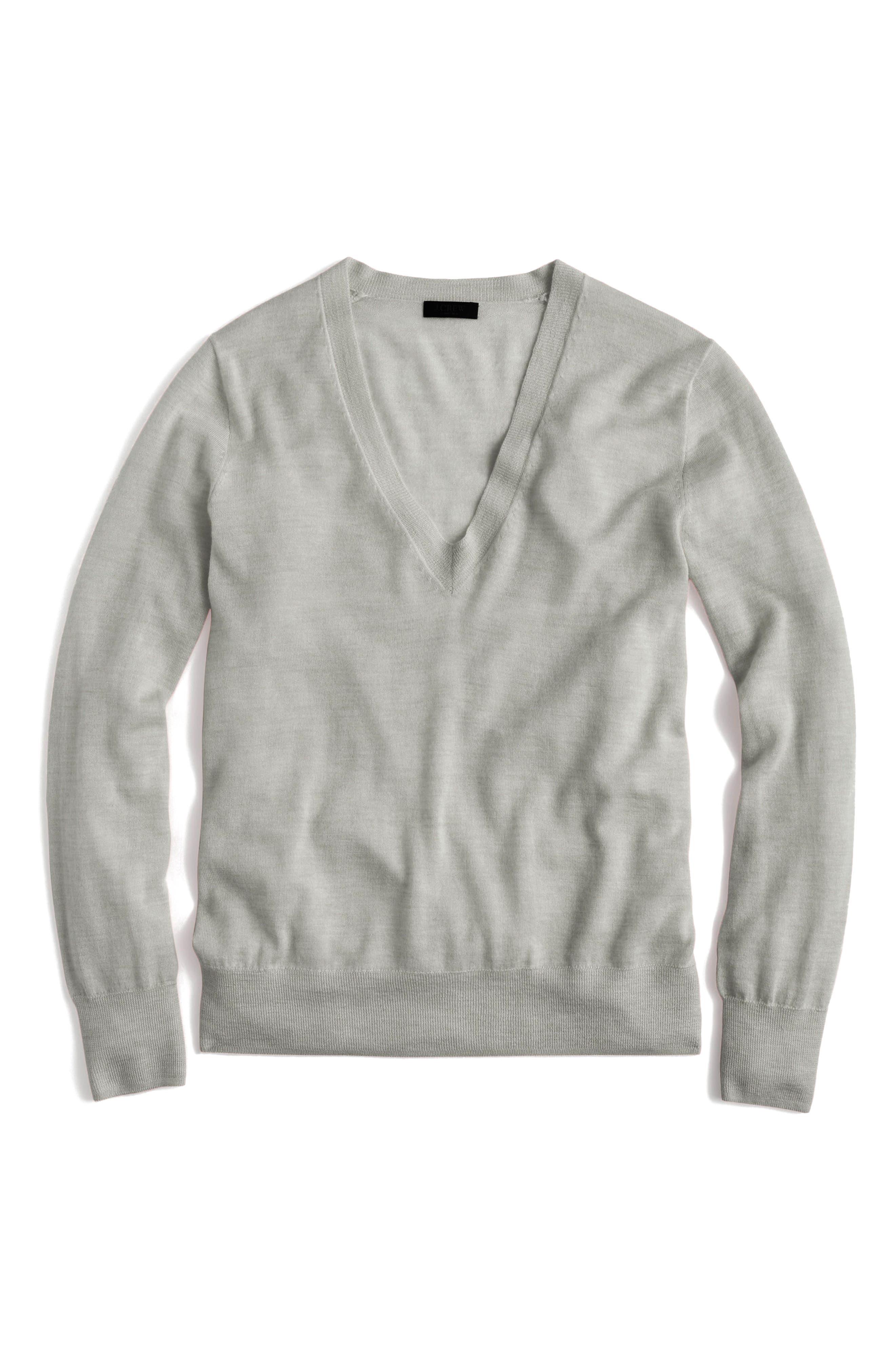 J.Crew V-Neck Italian Featherweight Cashmere Sweater