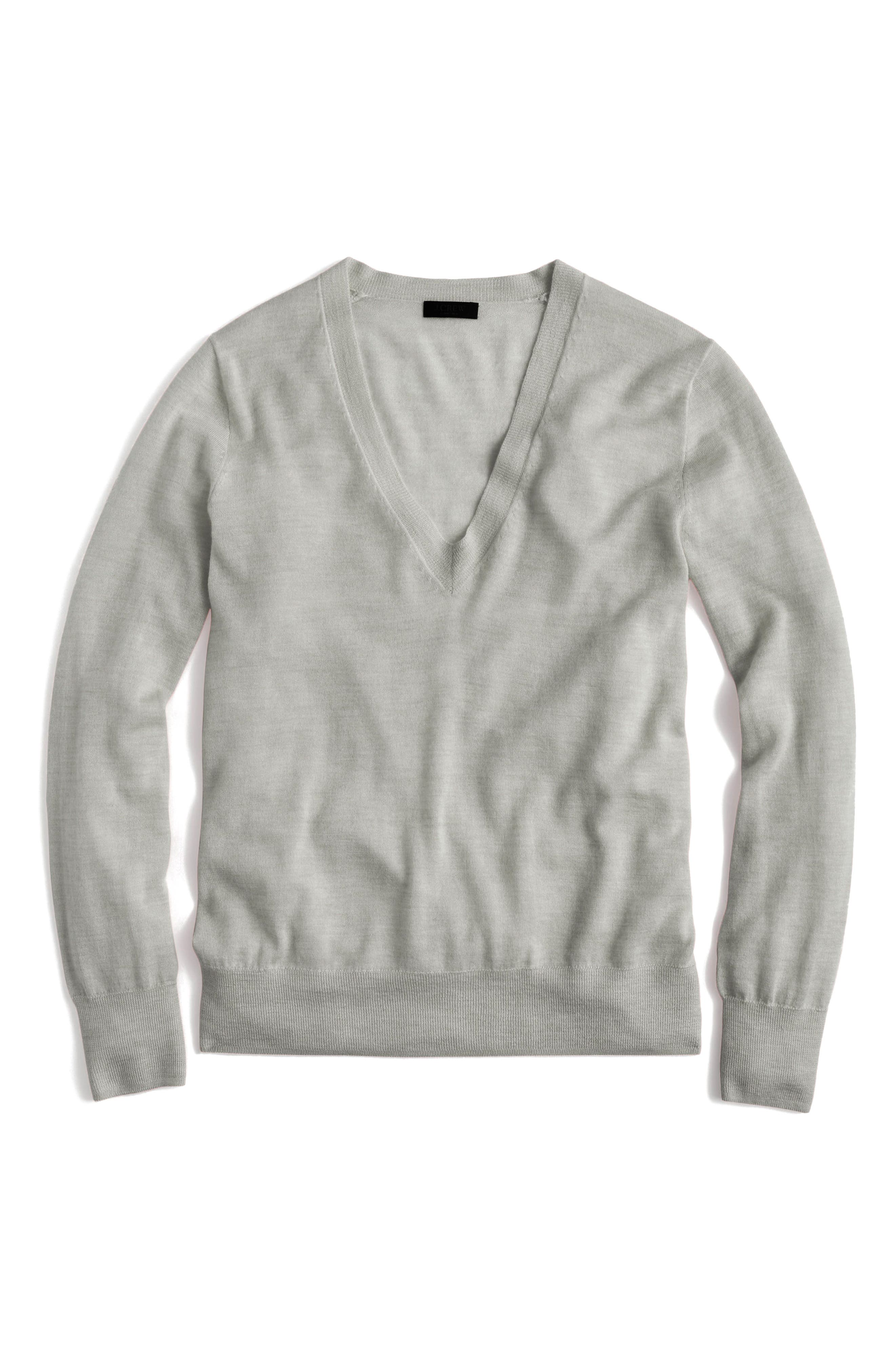 J.Crew V-Neck Italian Featherweight Cashmere Sweater