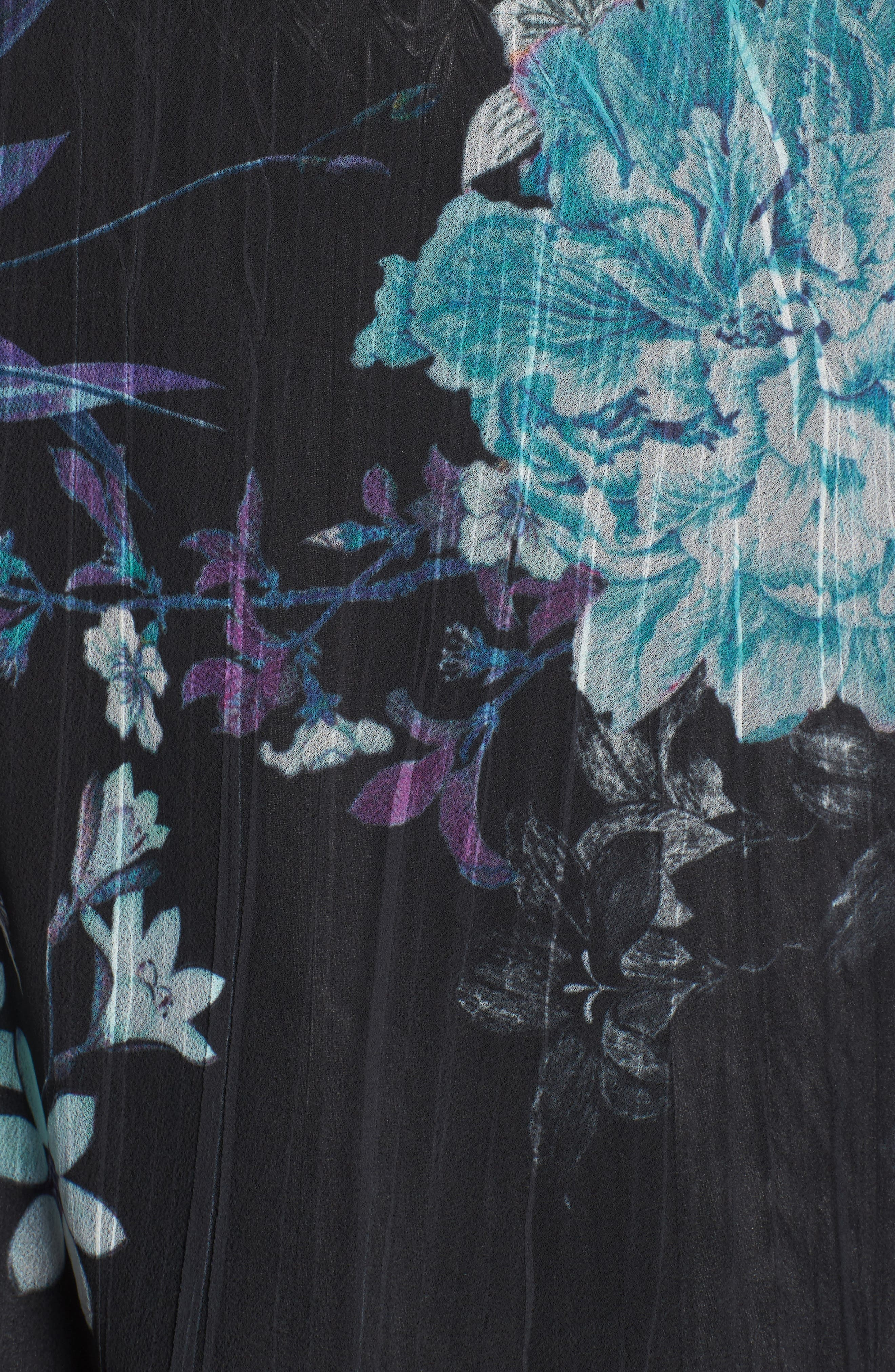 Alternate Image 5  - Komarov Print Chiffon Dress (Plus Size)