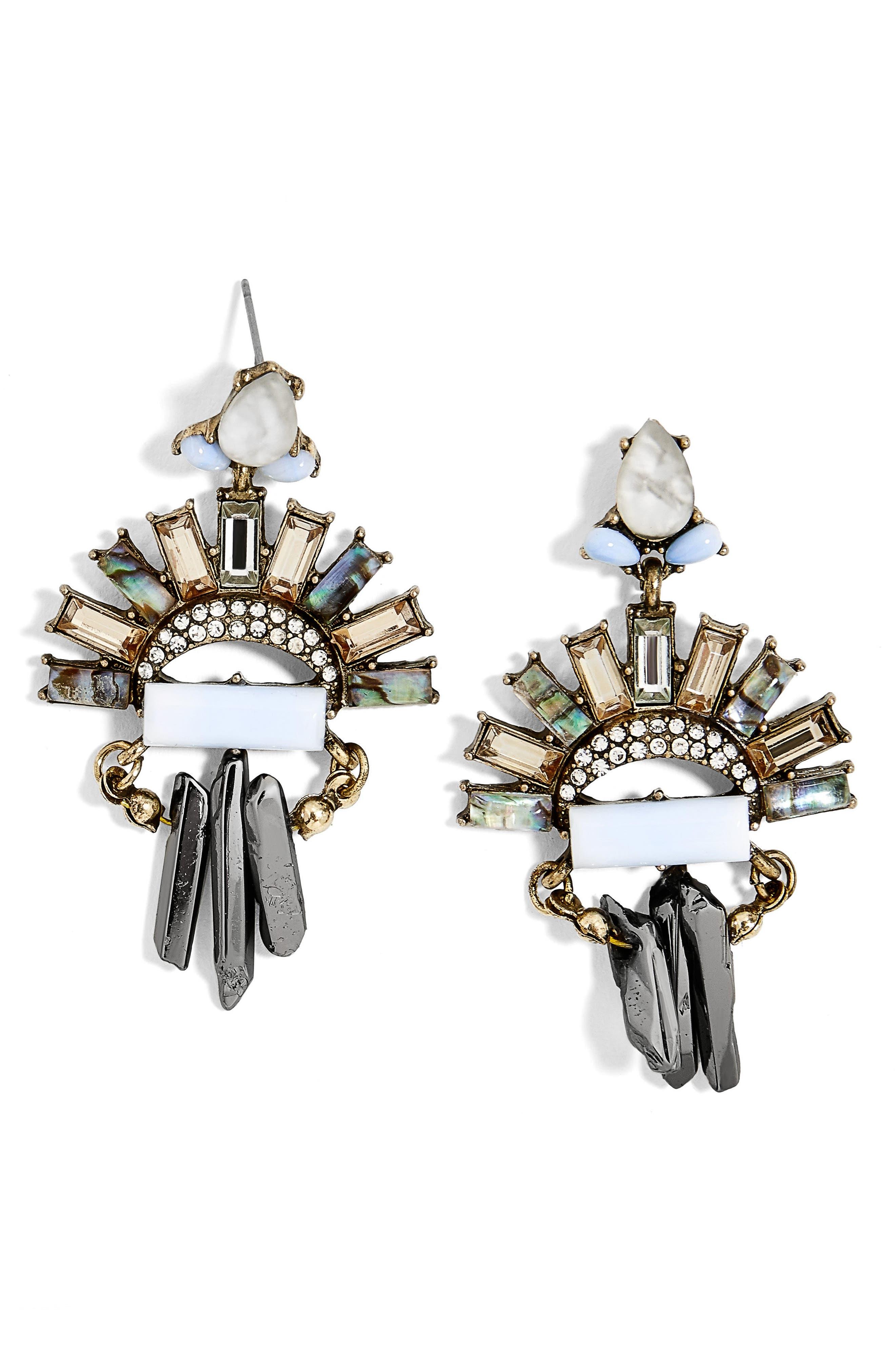 Marita Crystal Drop Earrings,                         Main,                         color, Light Blue