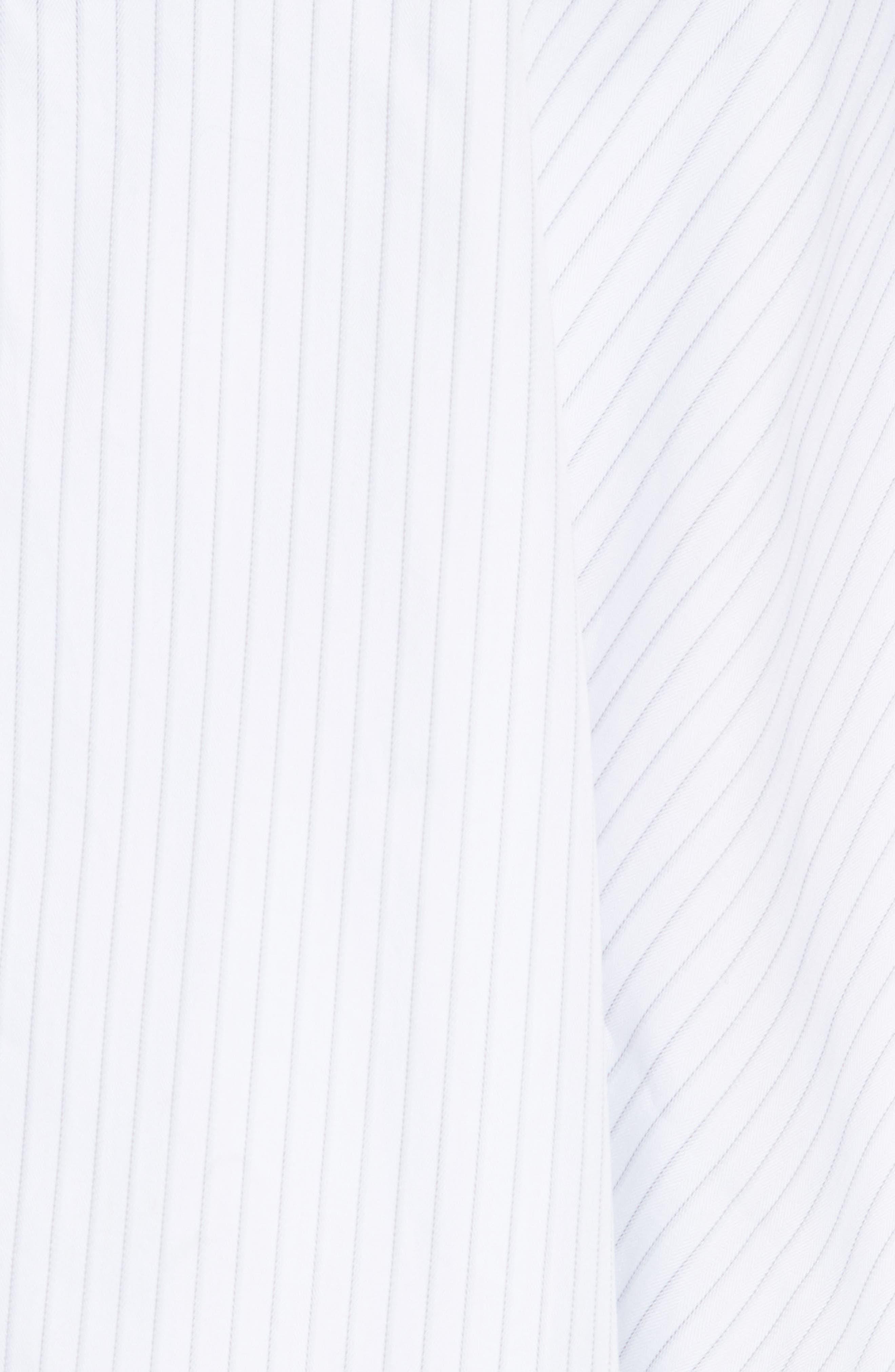 Janey Shirting Stripe Top,                             Alternate thumbnail 5, color,                             Grey Stripe