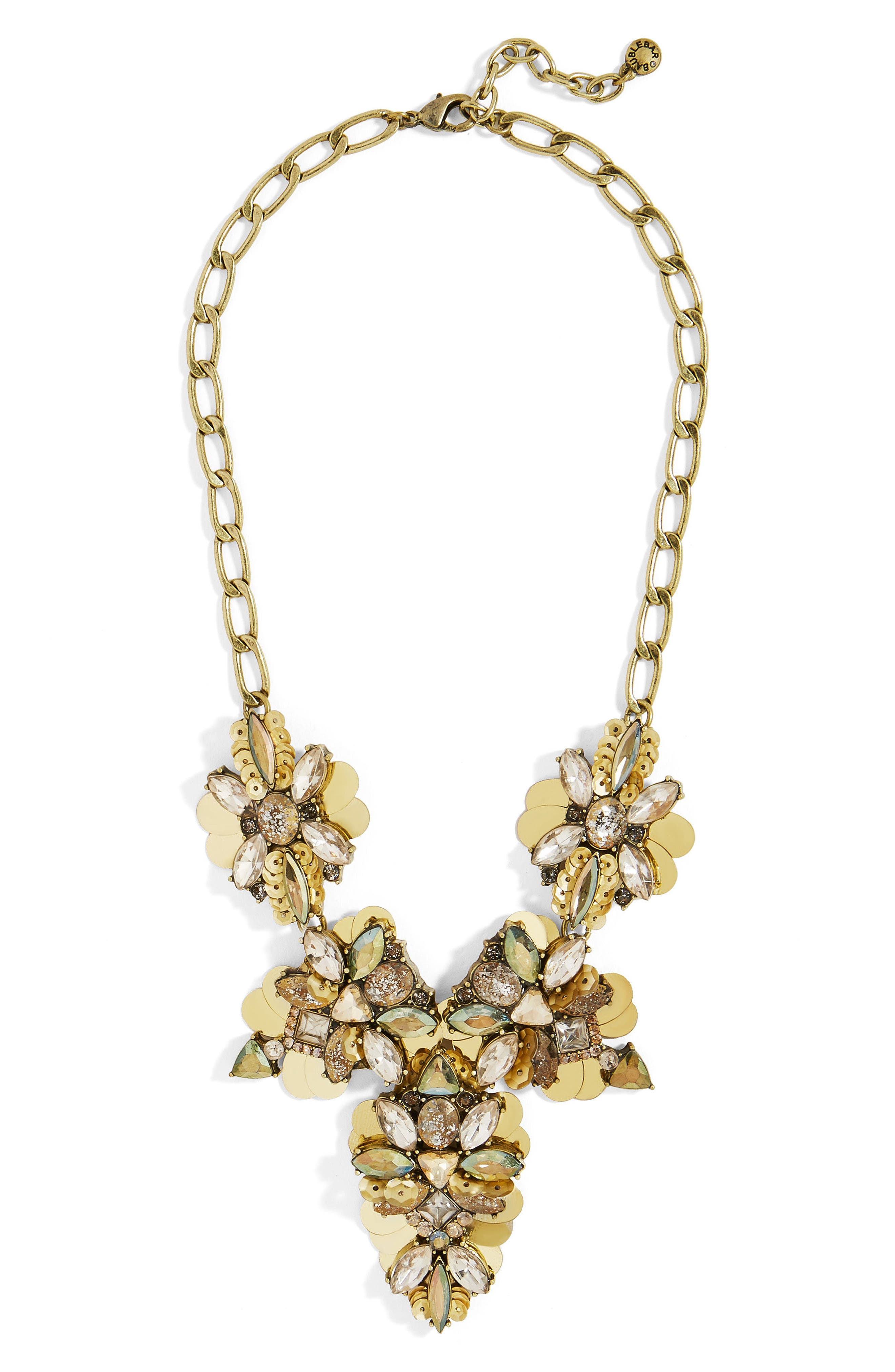 Duchess Statement Necklace,                         Main,                         color, Gold