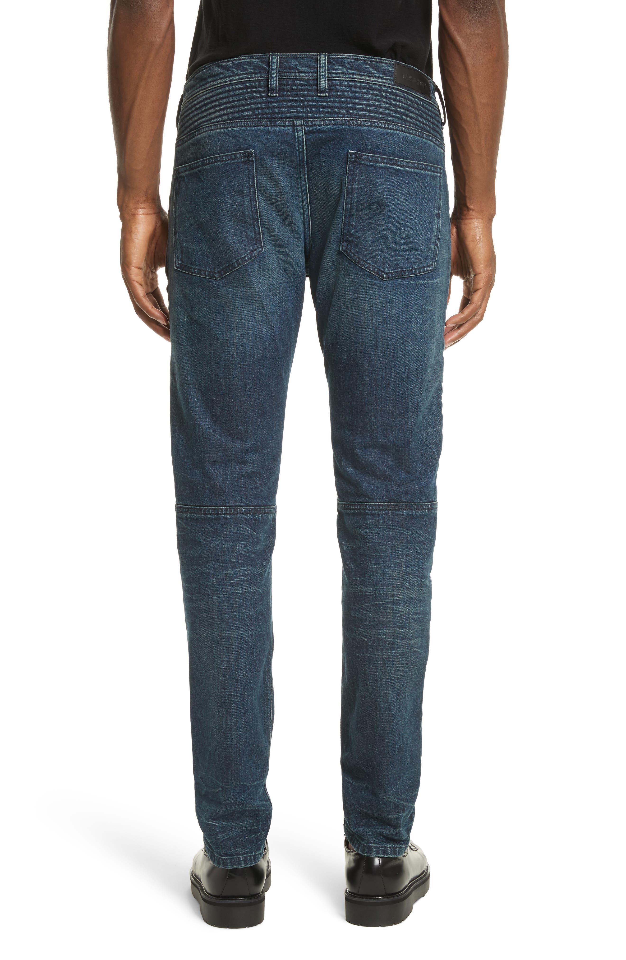 Moto Jeans,                             Alternate thumbnail 2, color,                             Indigo Blue