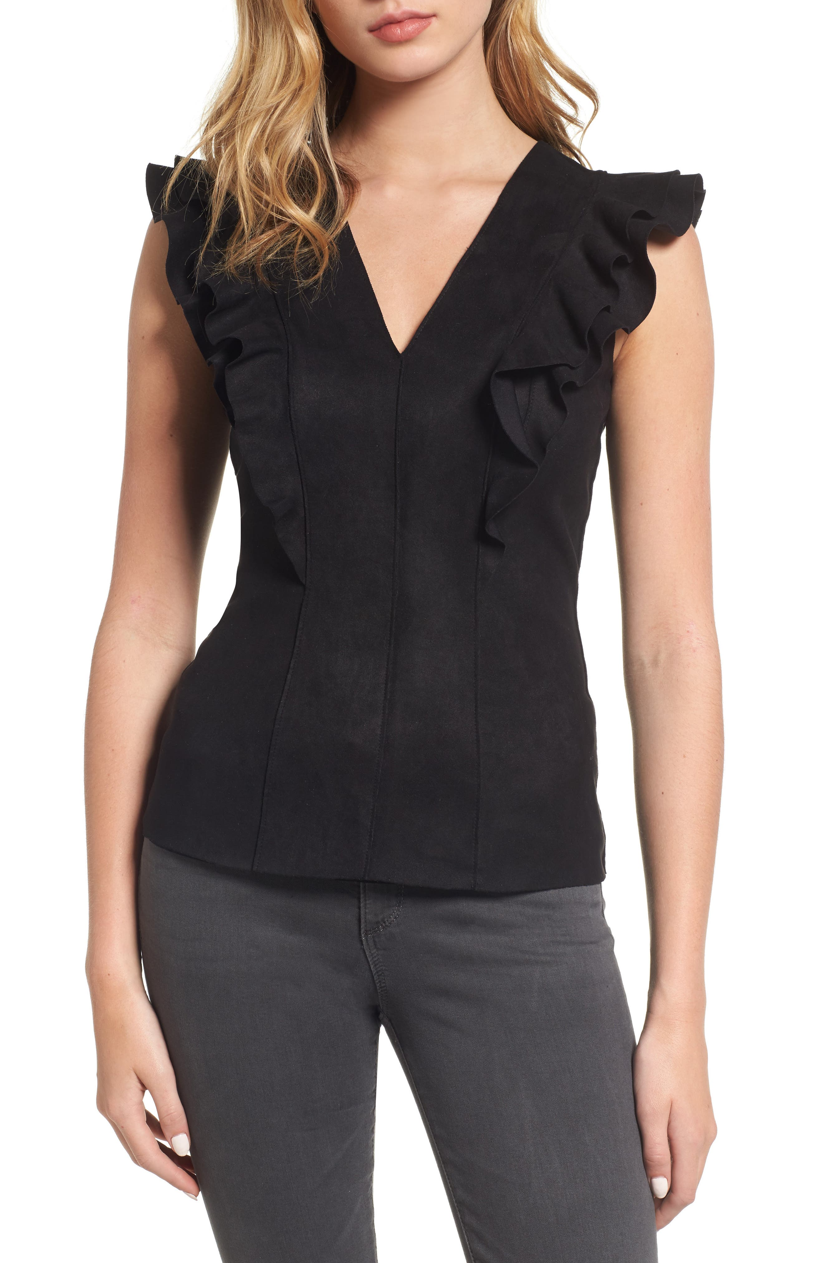Goldilocks Top,                         Main,                         color, Black