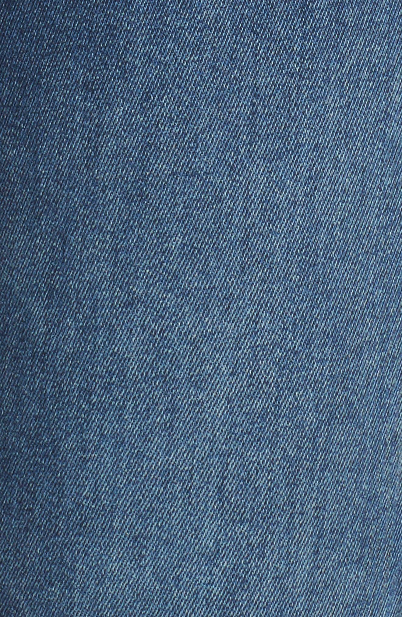 Alternate Image 5  - Fidelity Denim Mila Step Hem Skinny Jeans (Vintage Blue)