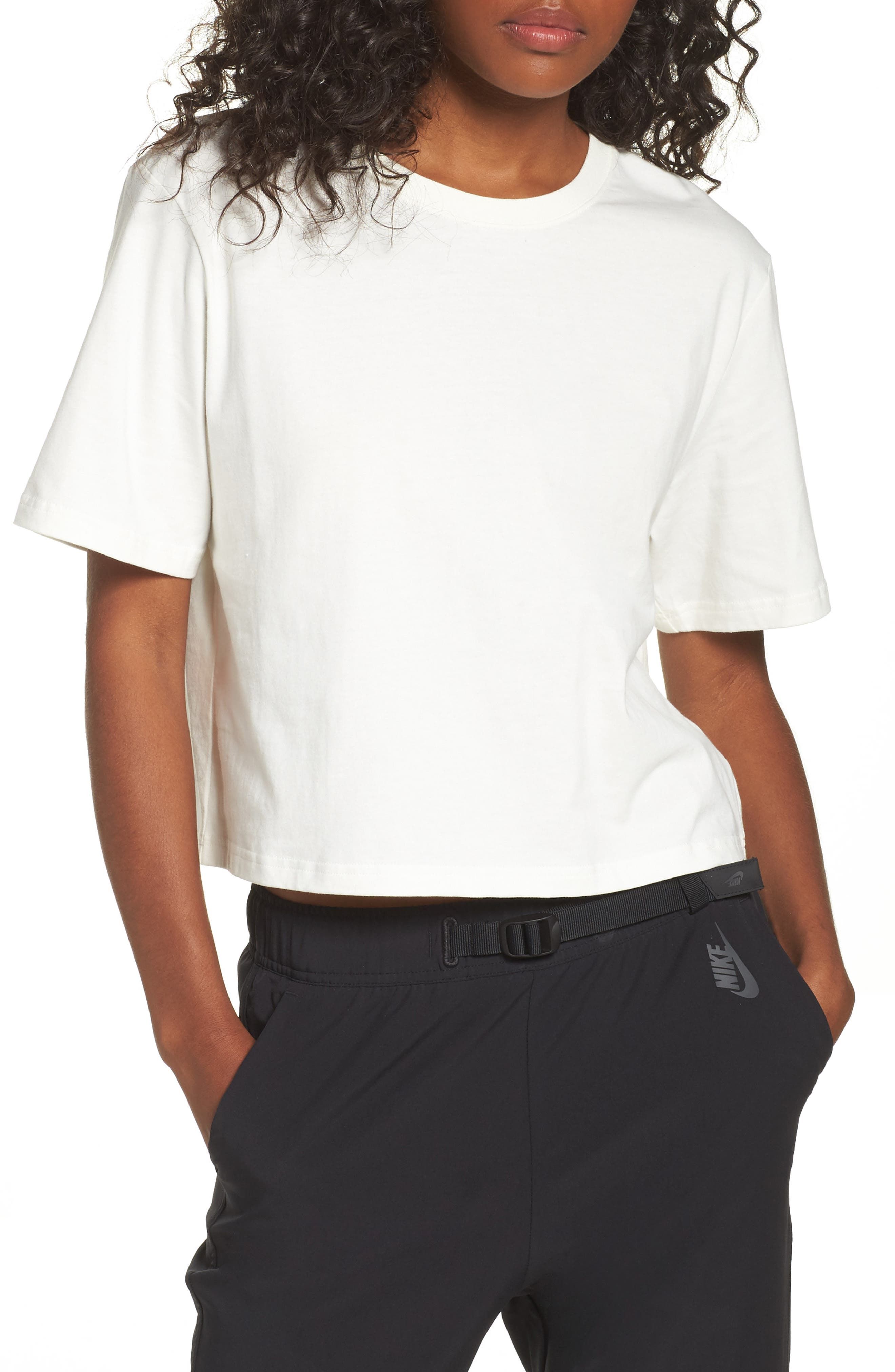 NikeLab Essentials Tee,                         Main,                         color, Sail/ Black