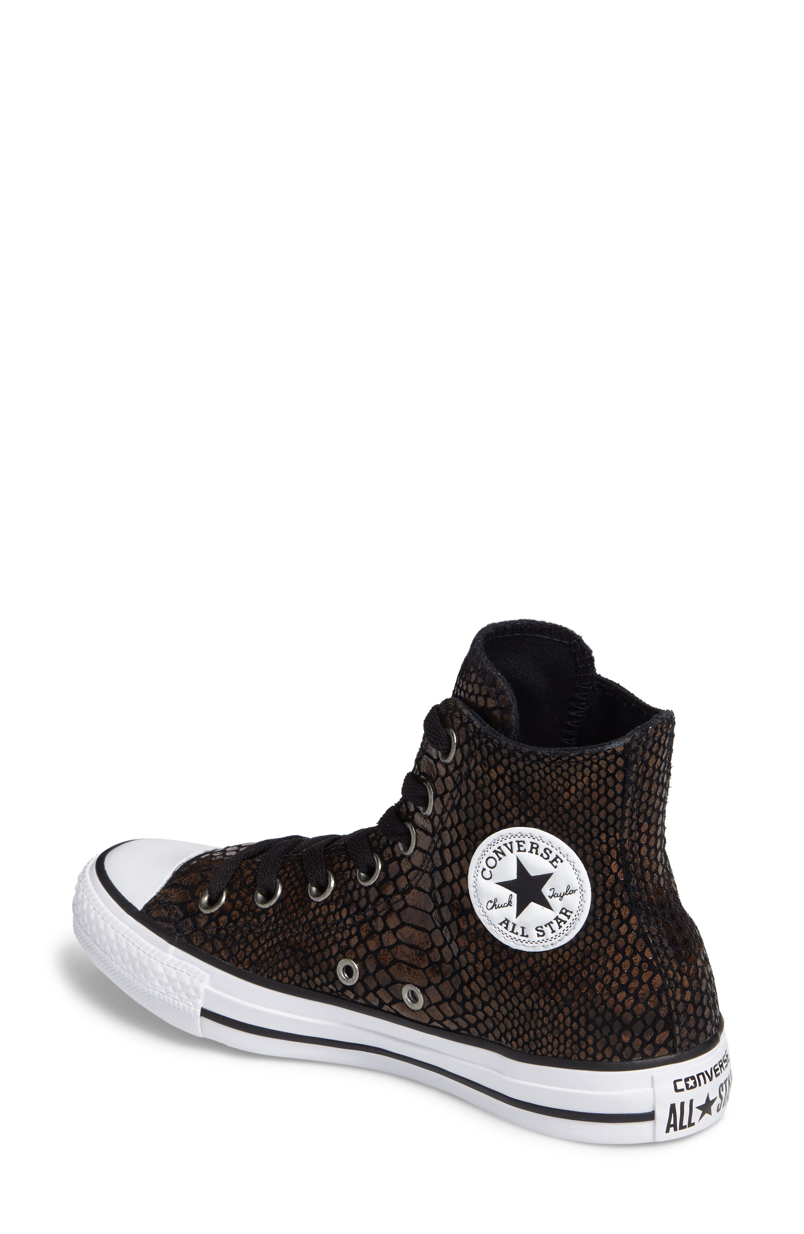 Alternate Image 2  - Converse Chuck Taylor® All Star® Snake Embossed High Top Sneaker (Women)