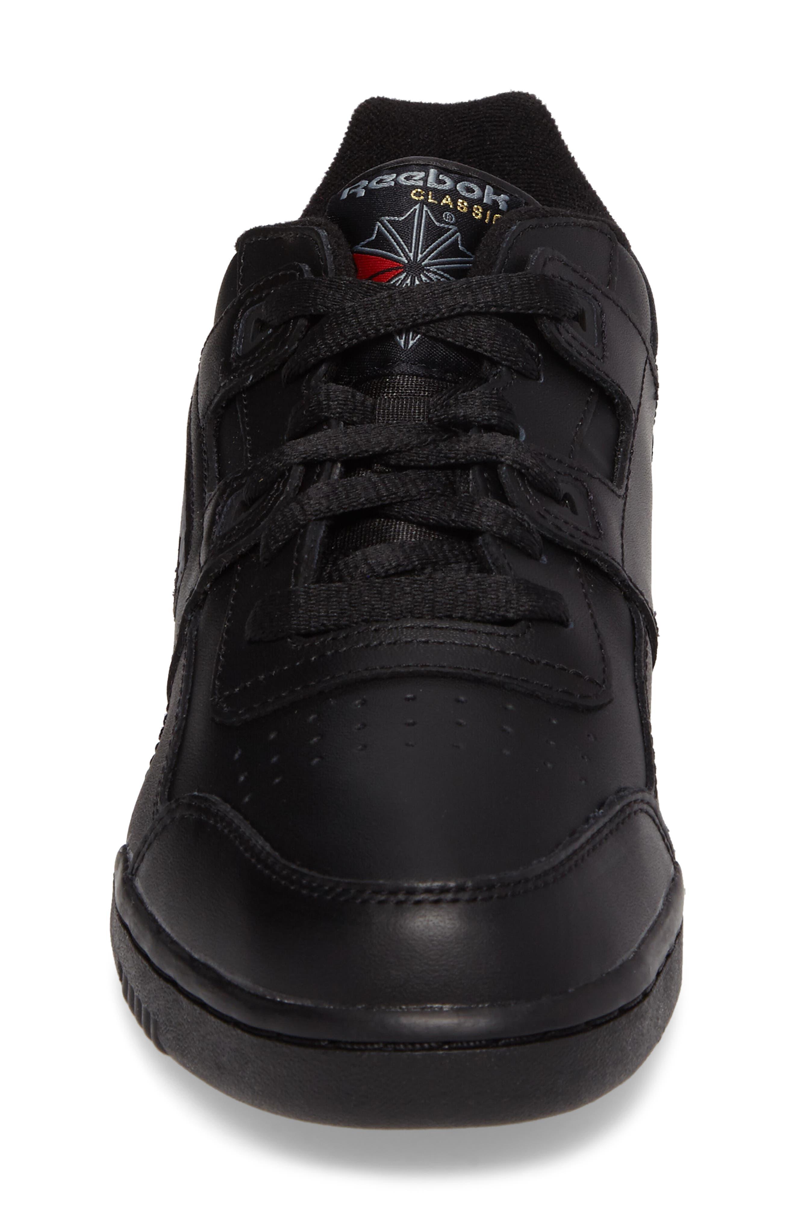 Workout Plus Sneaker,                             Alternate thumbnail 4, color,                             Black/ Charcoal