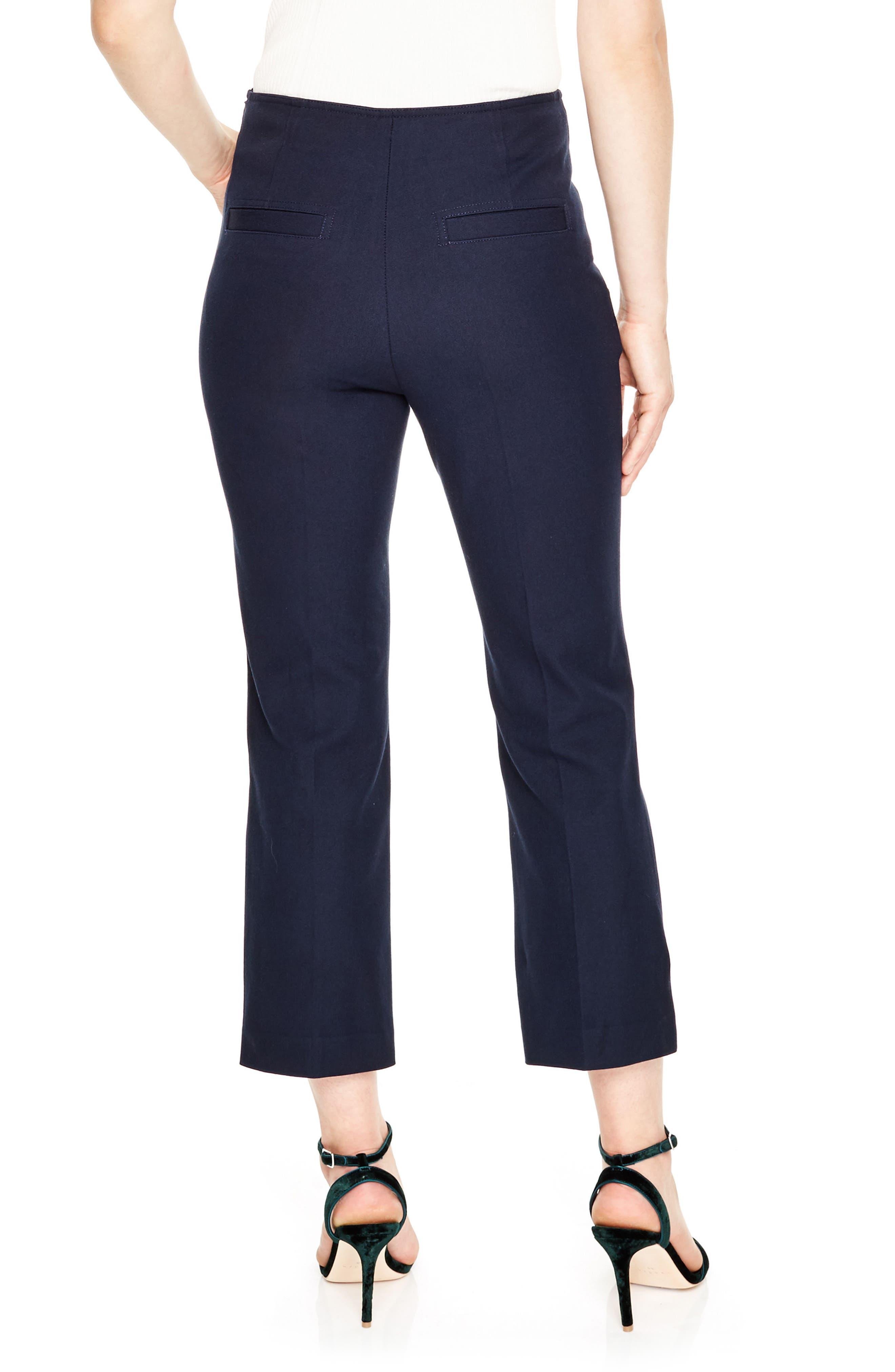 Alternate Image 2  - sandro Button Detail Crop Pants