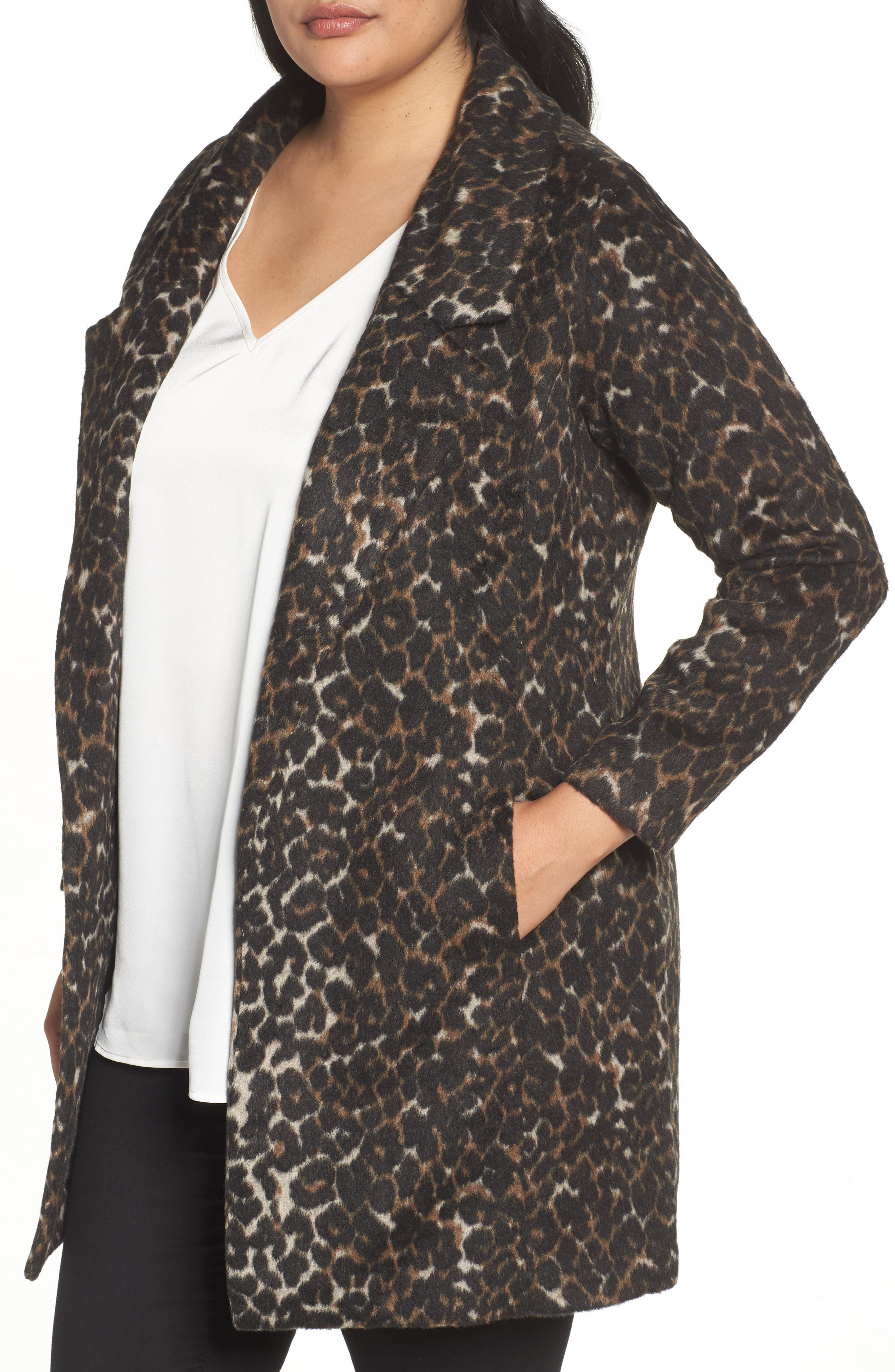 Alternate Image 4  - Sejour Leopard Print Jacket (Plus Size)