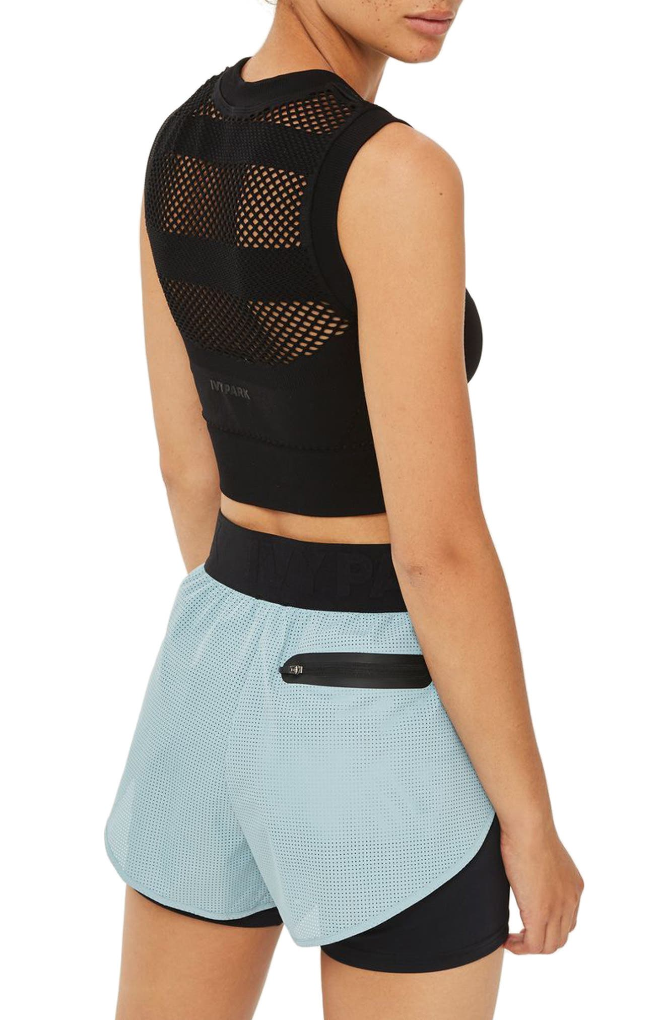 Alternate Image 3  - IVY PARK® Perforated 2-in-1 Runner Shorts