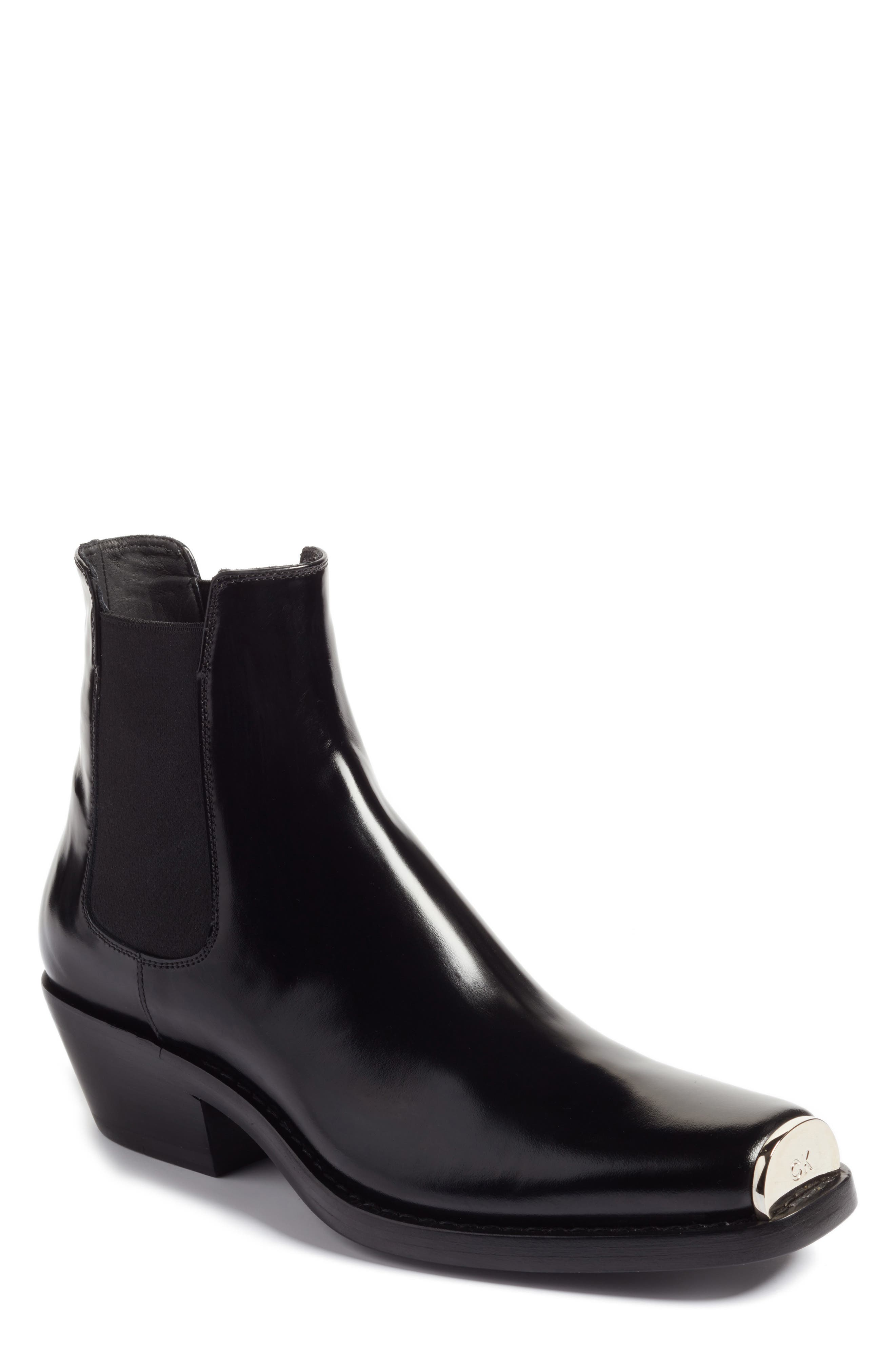 Claire Western Chelsea Boot,                             Main thumbnail 1, color,                             Black Abrasivato