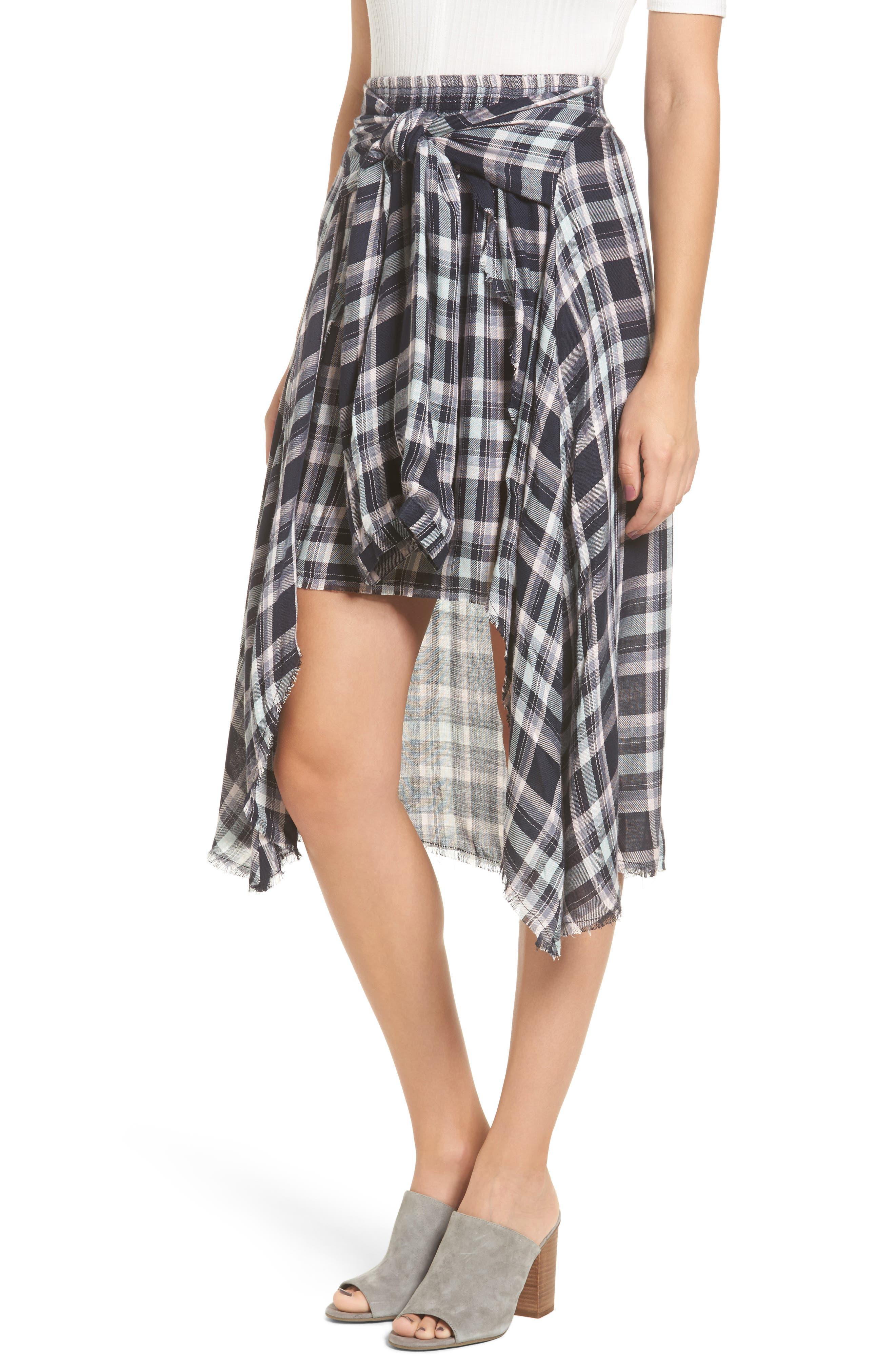 When We Wake Plaid Skirt,                         Main,                         color, Multi
