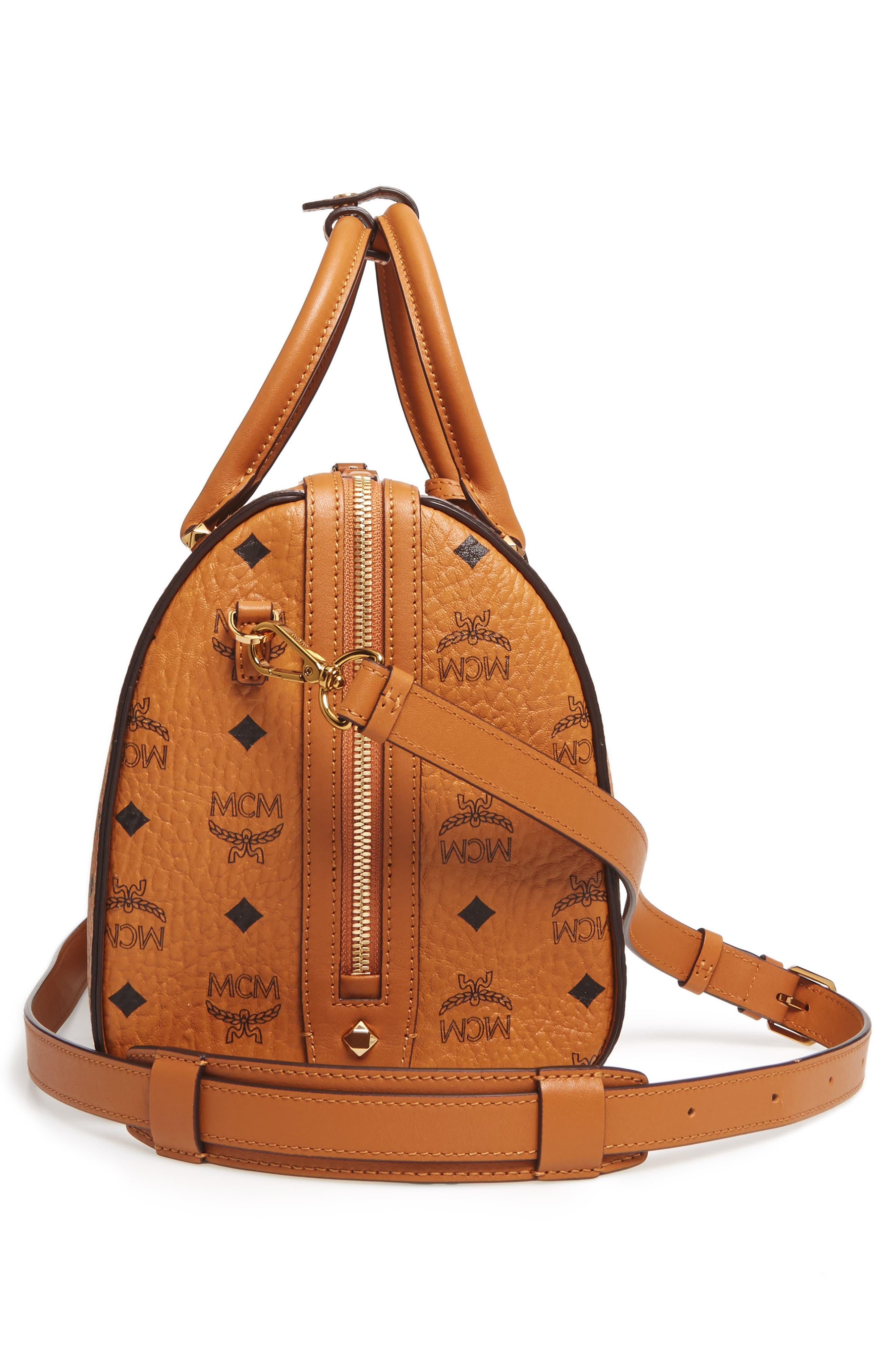 Essential Boston Bag,                             Alternate thumbnail 5, color,                             Cognac