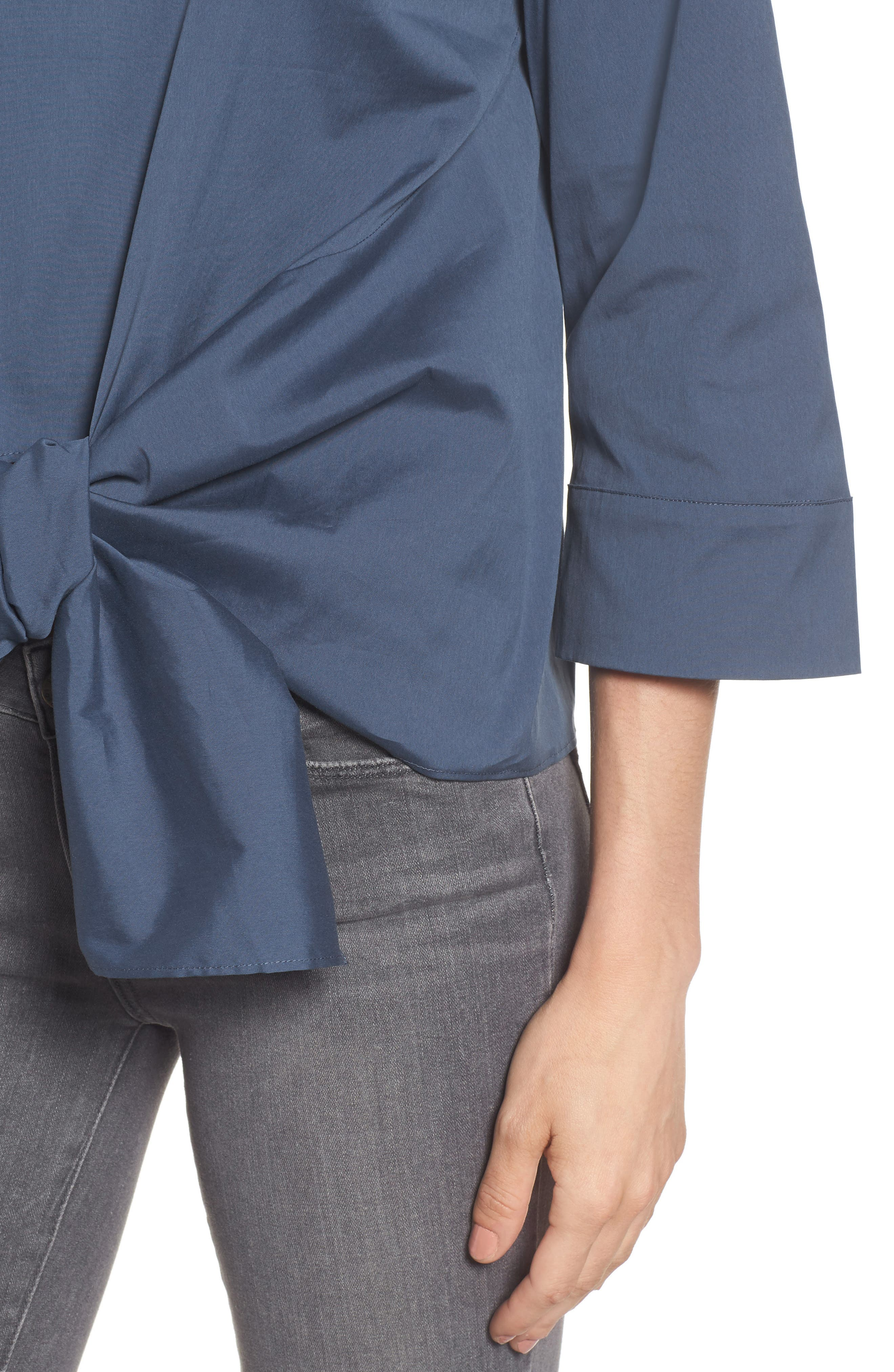Alternate Image 3  - Halogen® Tie Front Blouse (Regular & Petite)