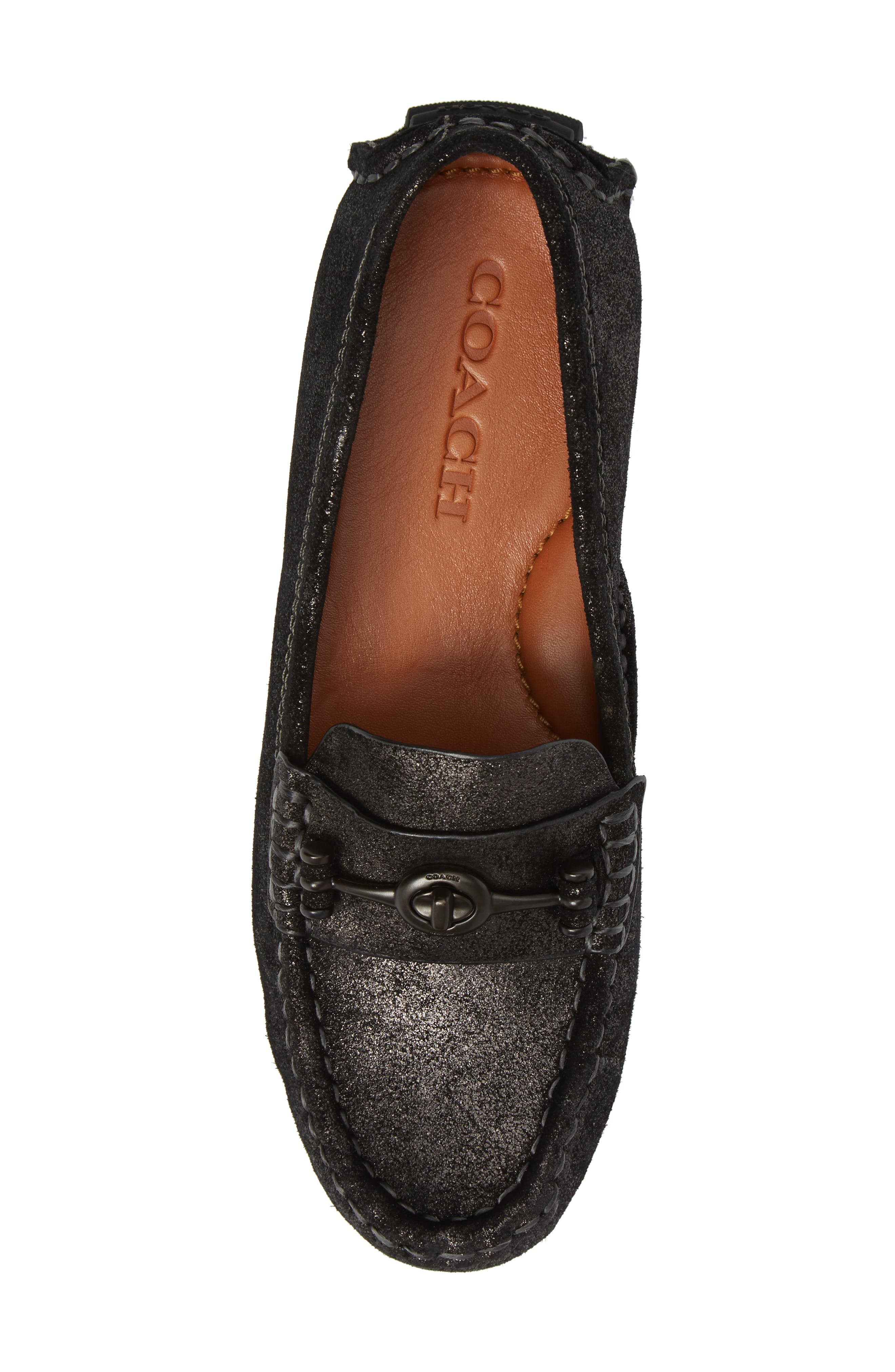 Crosby Driving Loafer,                             Alternate thumbnail 5, color,                             Anthracite Suede