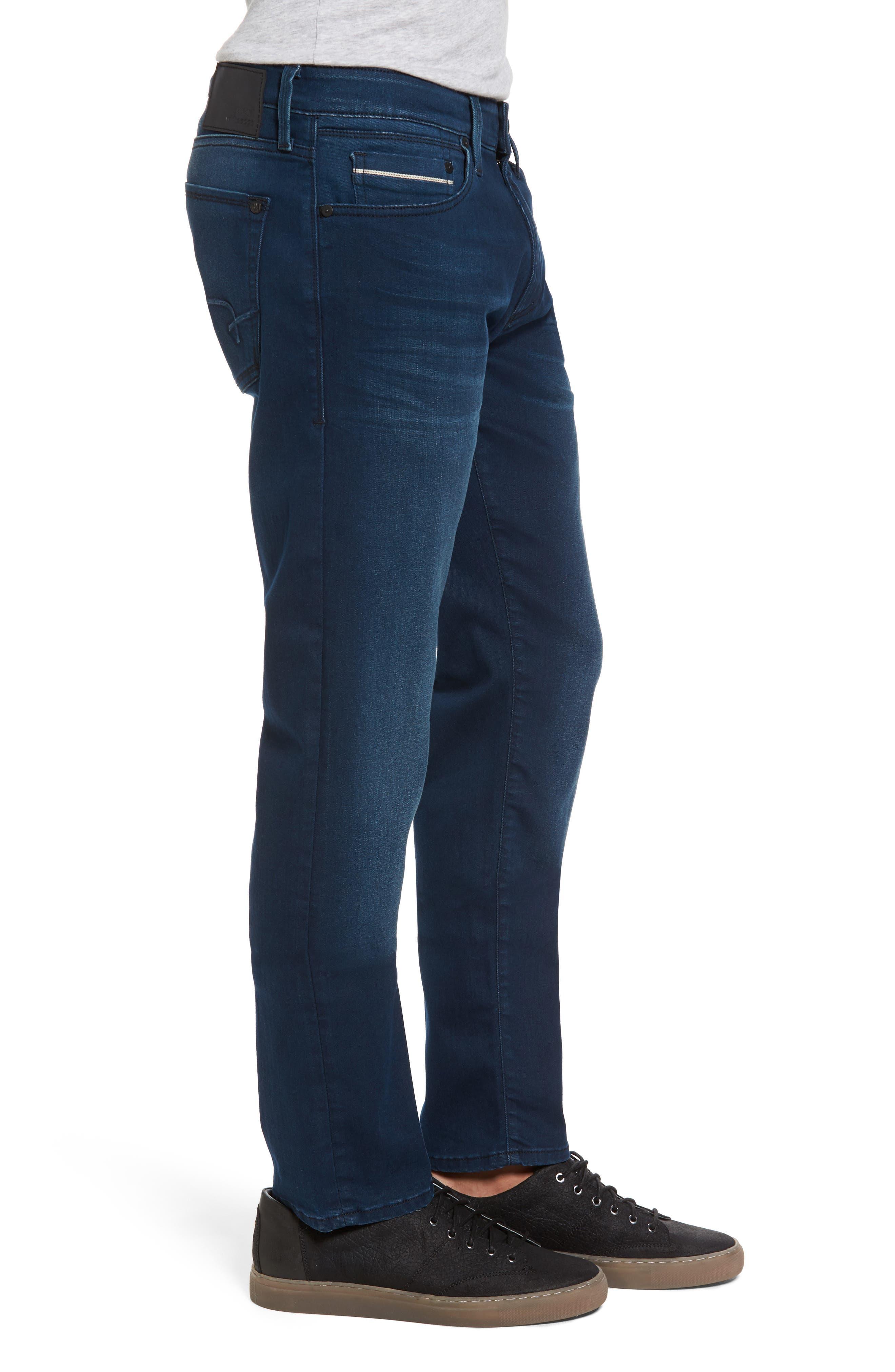 Jake Slim Fit Jeans,                             Alternate thumbnail 3, color,                             Ink Brushed Williamsburg
