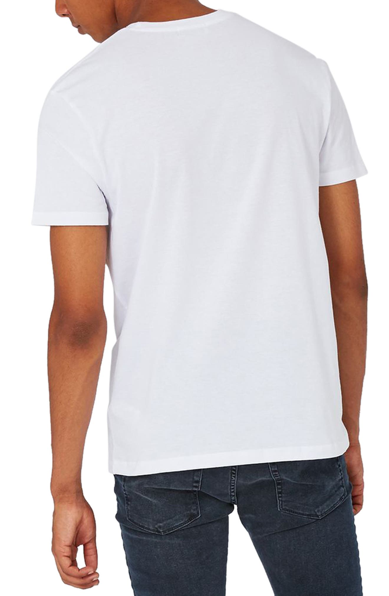 Alternate Image 2  - Topman Rose Embroidered T-Shirt