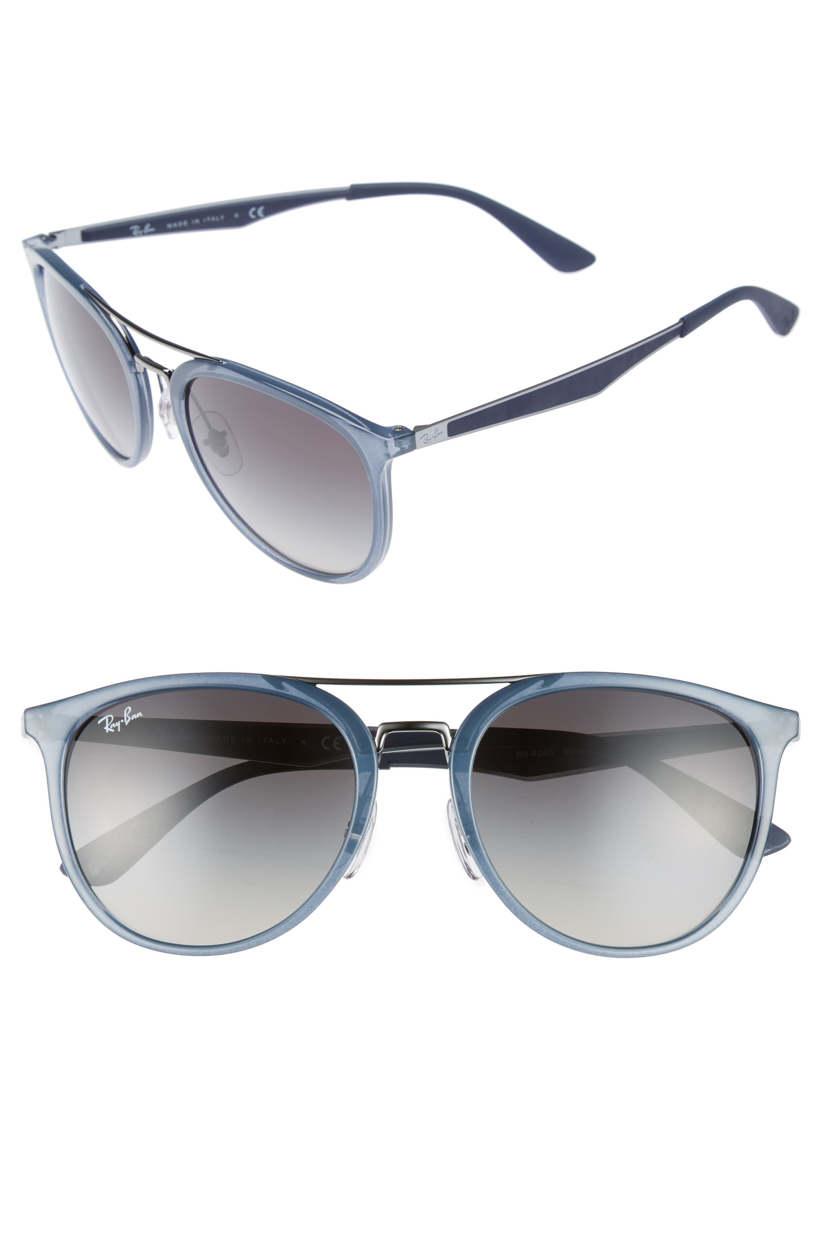 55mm Gradient Lens Sunglasses,                         Main,                         color, Crystal