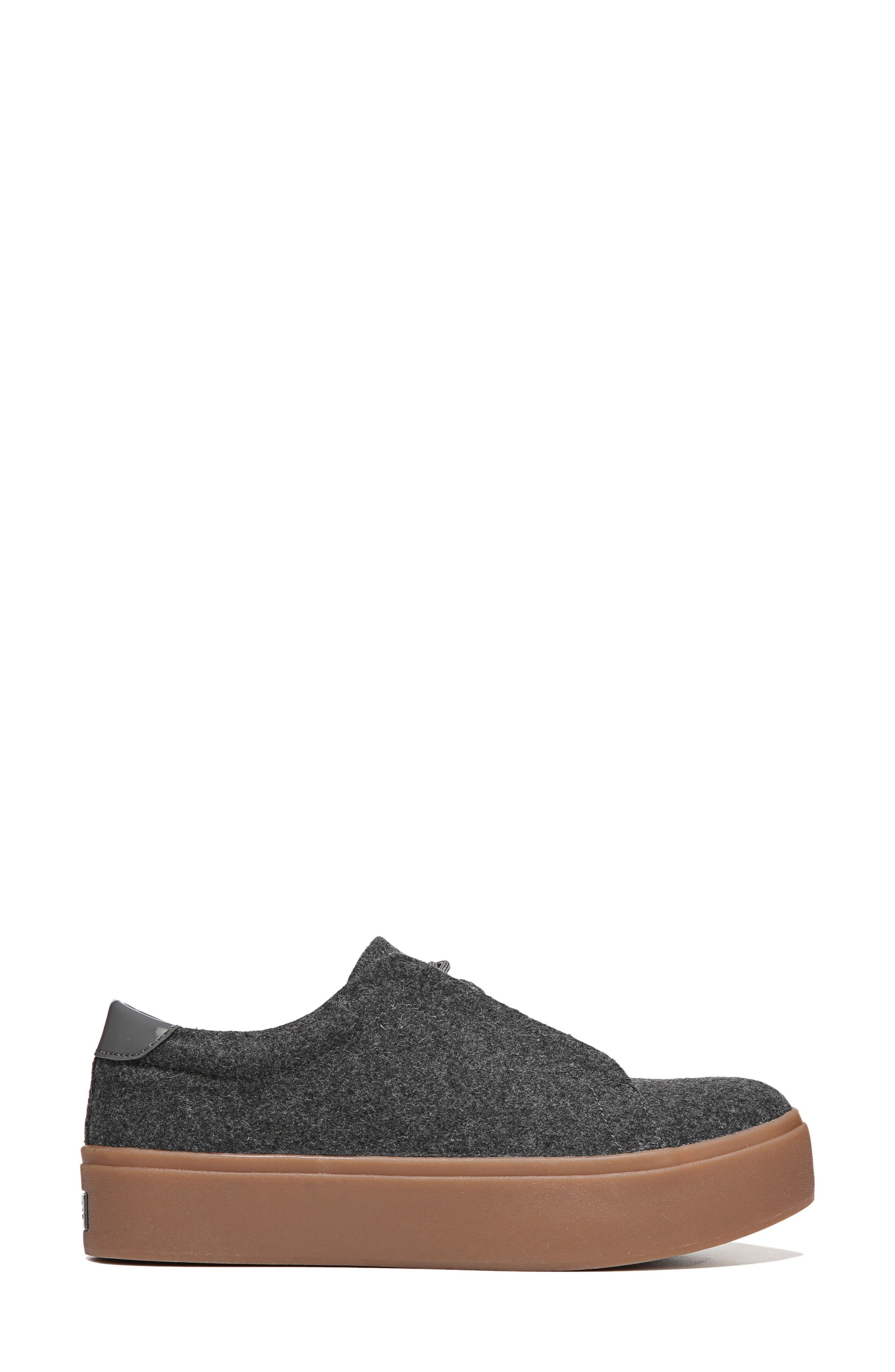 Abbot Sneaker,                             Alternate thumbnail 3, color,                             Charcoal Fabric
