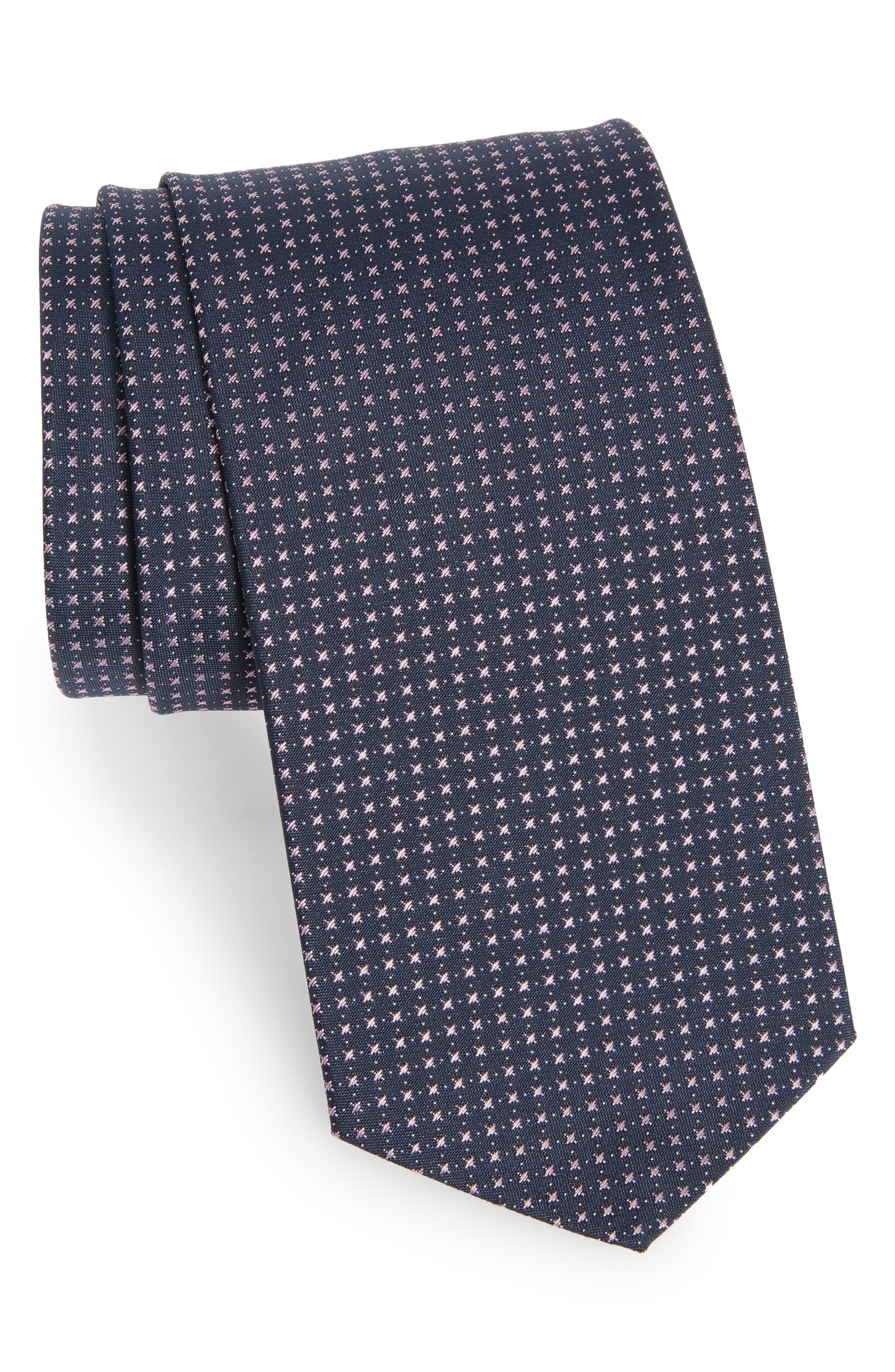 Main Image - BOSS Geometric Silk Tie