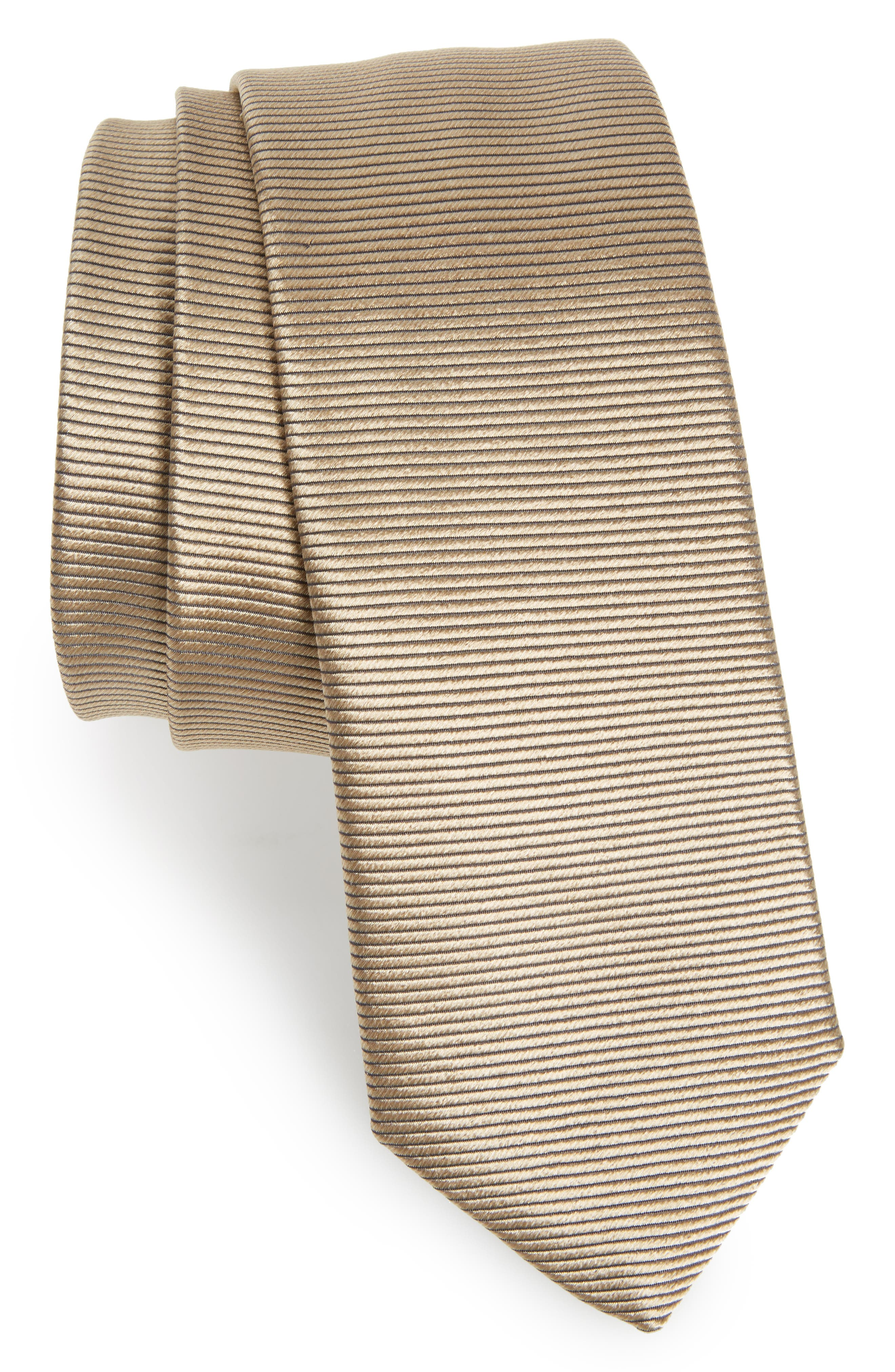 Main Image - BOSS Solid Silk Skinny Tie