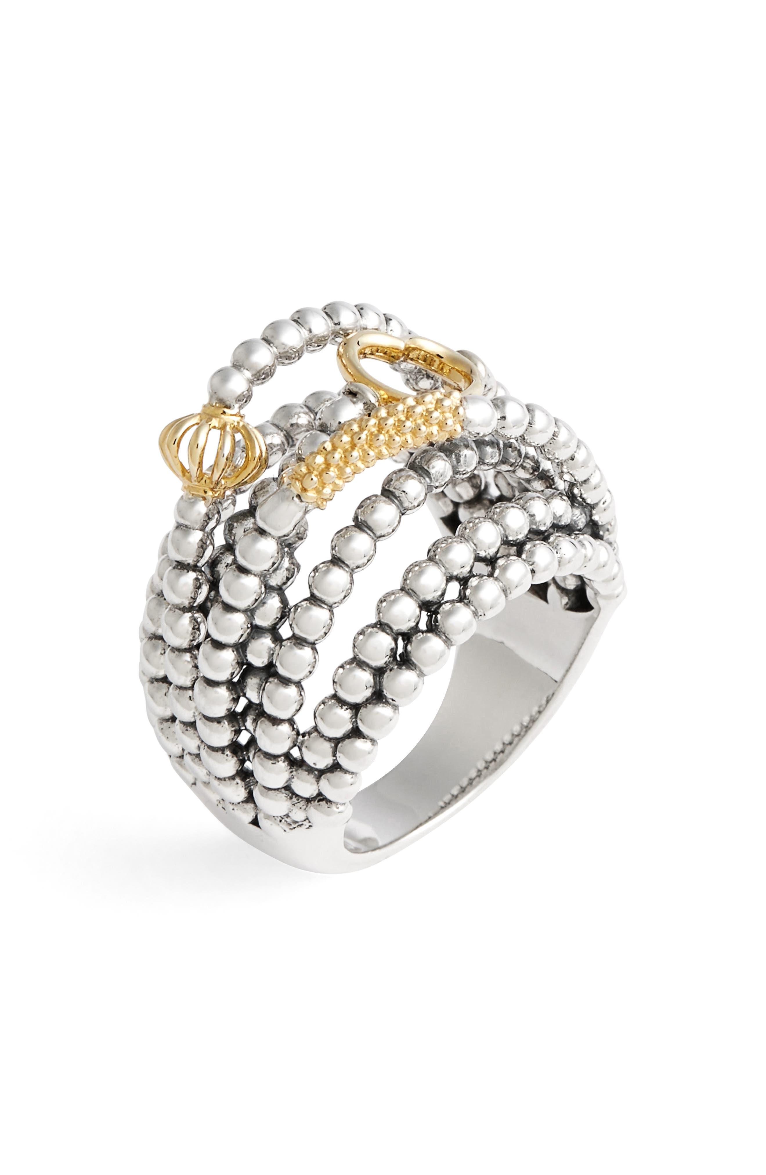 LAGOS Caviar Icon Multi-Row Dome Ring