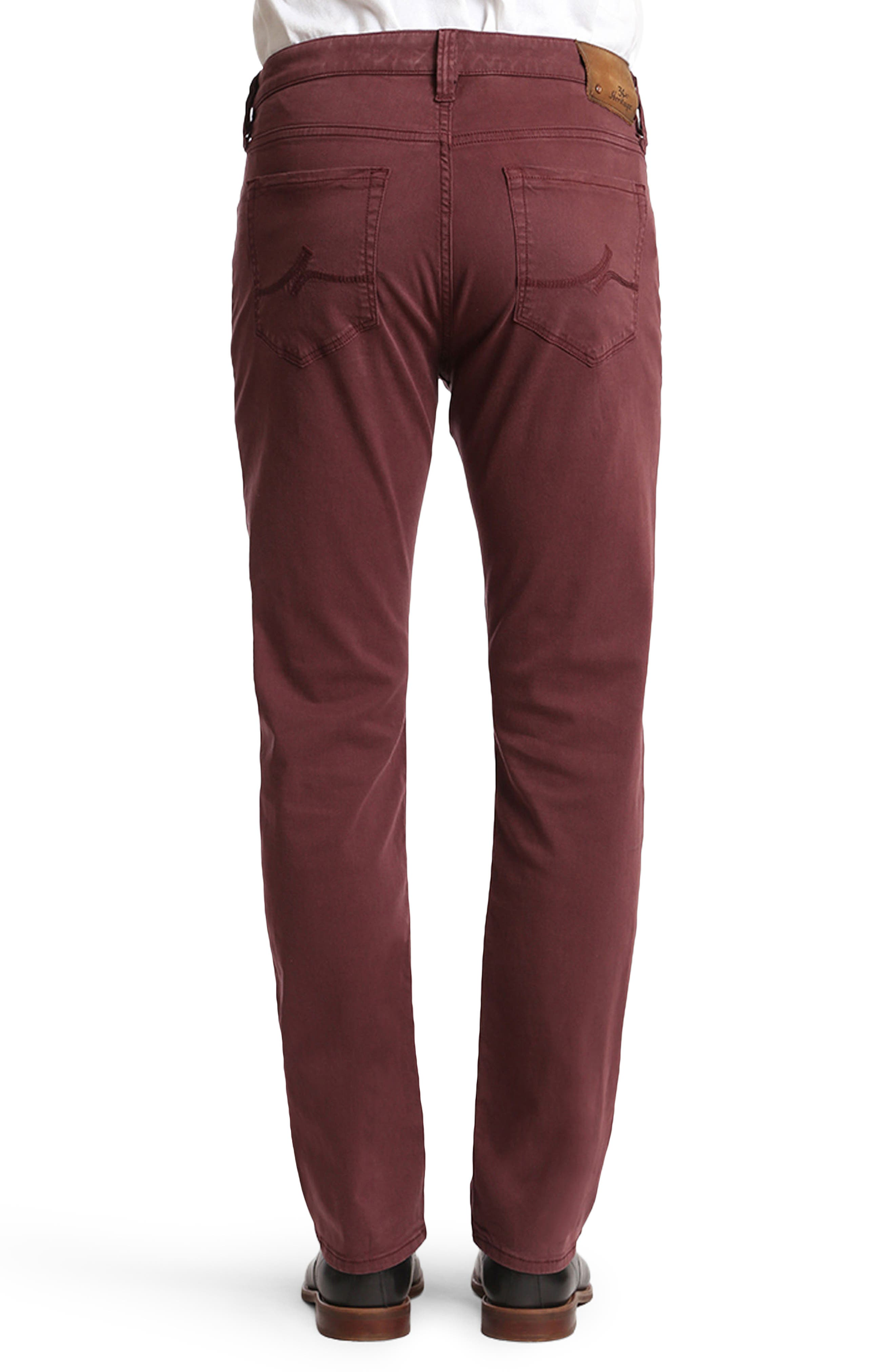 Courage Straight Leg Twill Pants,                             Alternate thumbnail 2, color,                             Bordeaux Twill