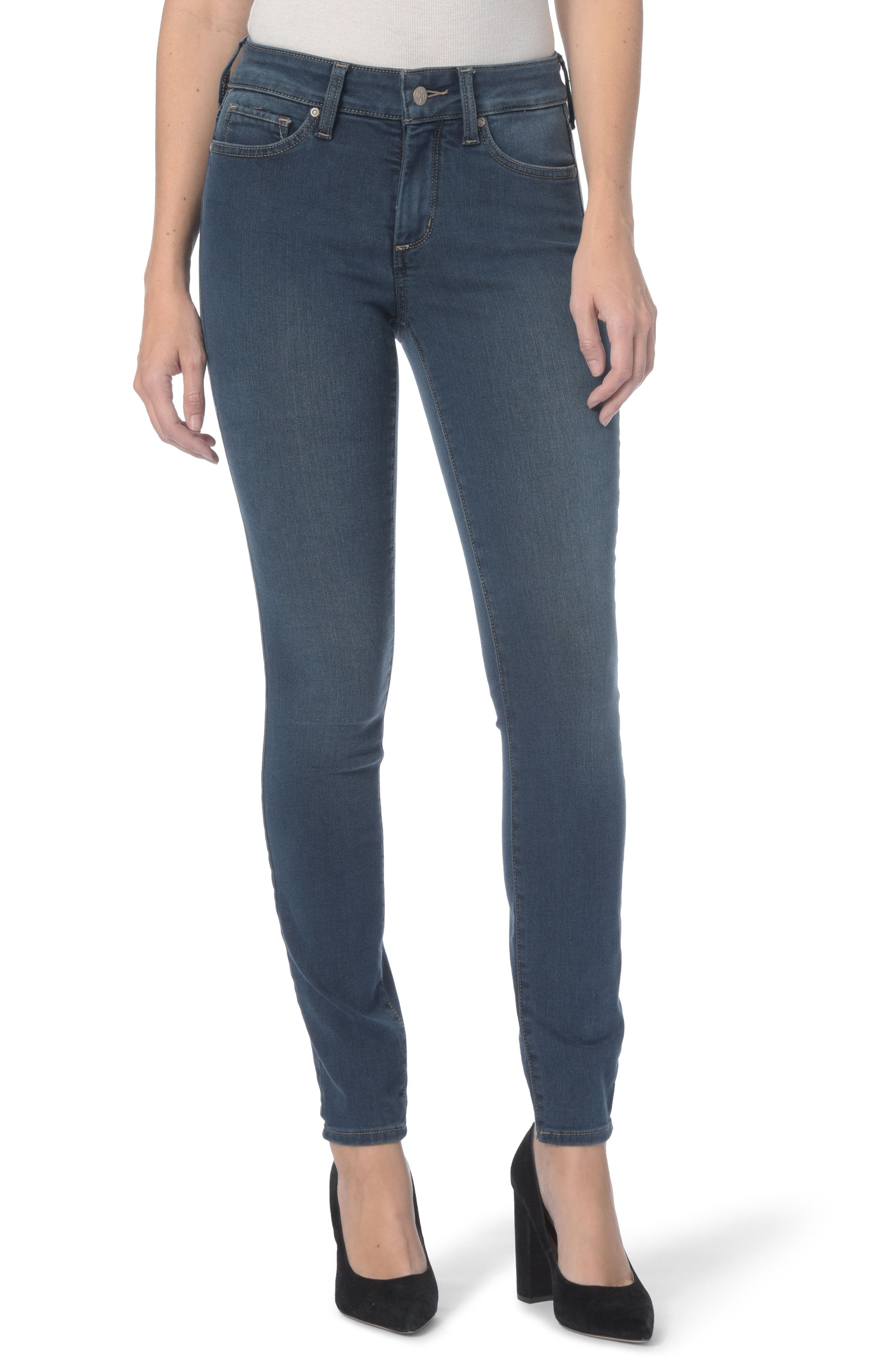 Ami Stretch Super Skinny Jeans,                             Main thumbnail 1, color,                             Rome