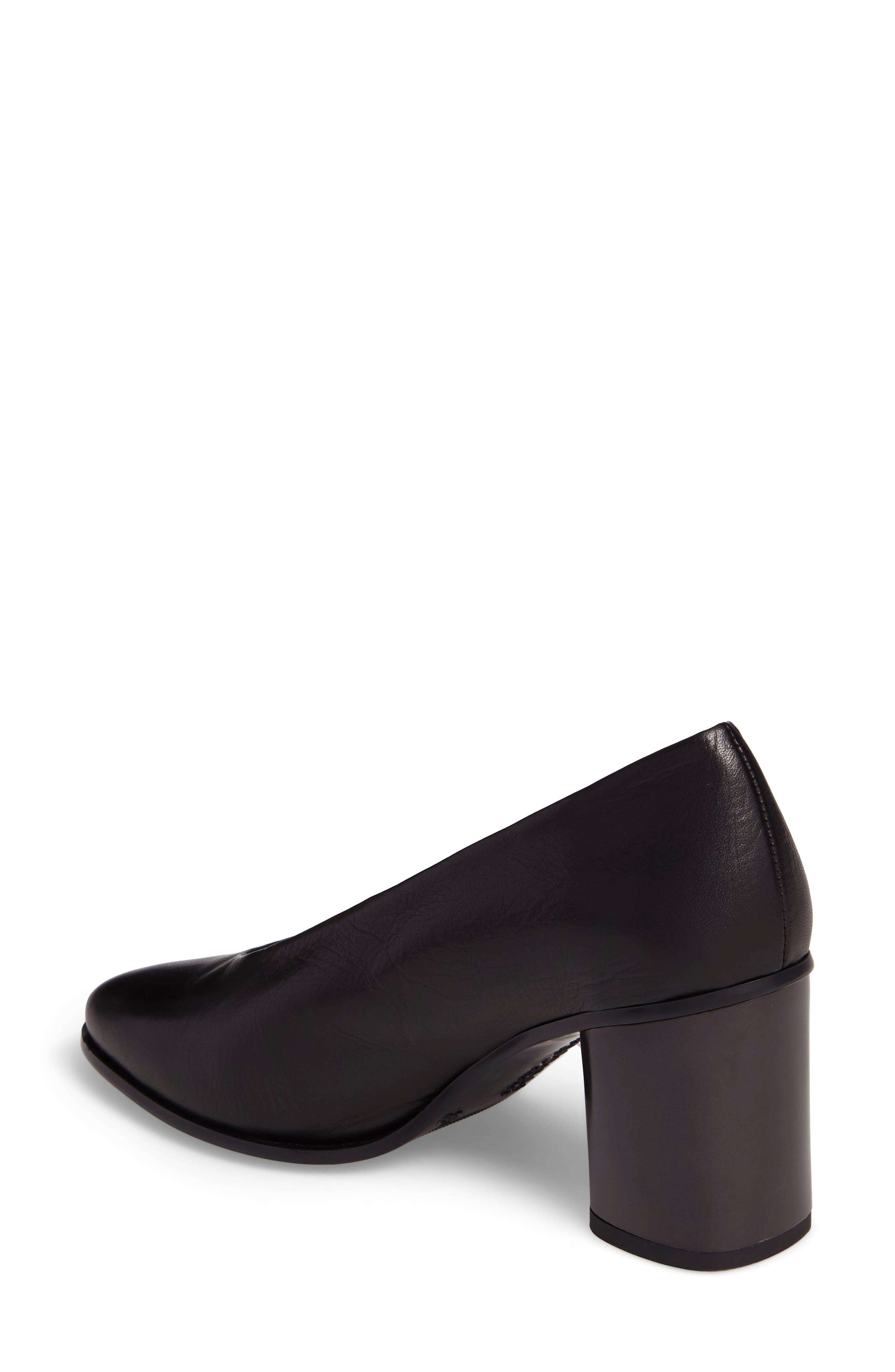 Maddie Block Heel Pump,                             Alternate thumbnail 2, color,                             Soho Black Leather