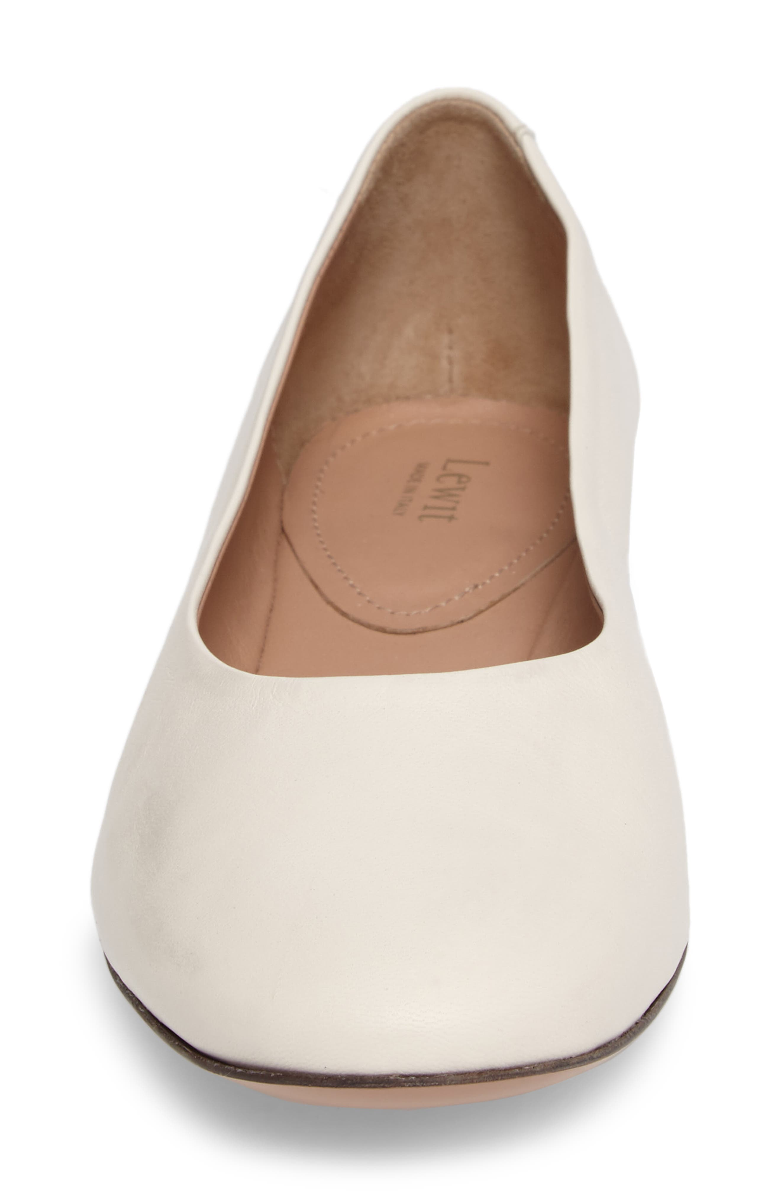 Gemma Ballerina Flat,                             Alternate thumbnail 5, color,                             Bone Leather