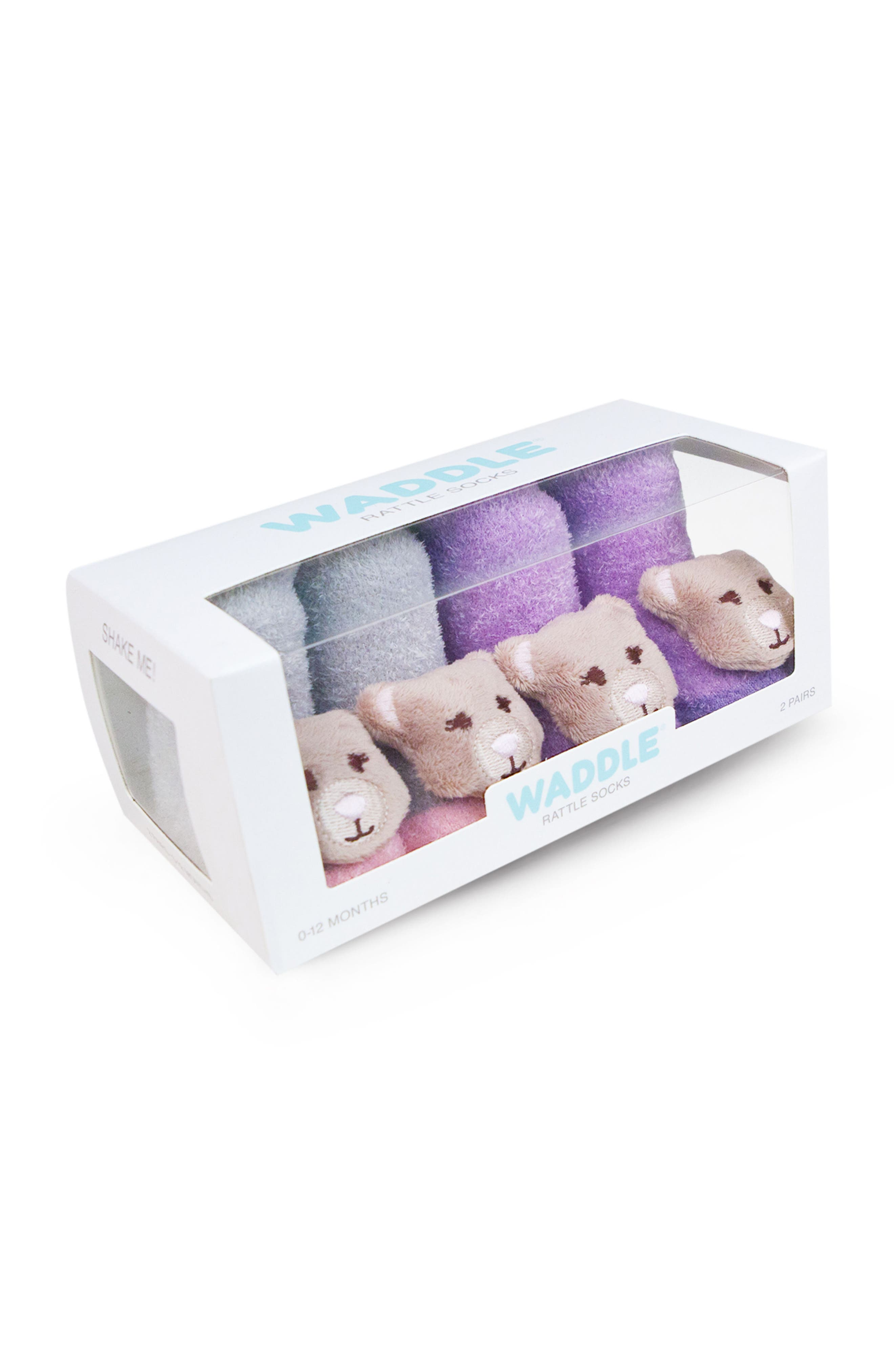 Alternate Image 2  - Waddle & Friends 2-Pack Animal Rattle Socks (Baby)