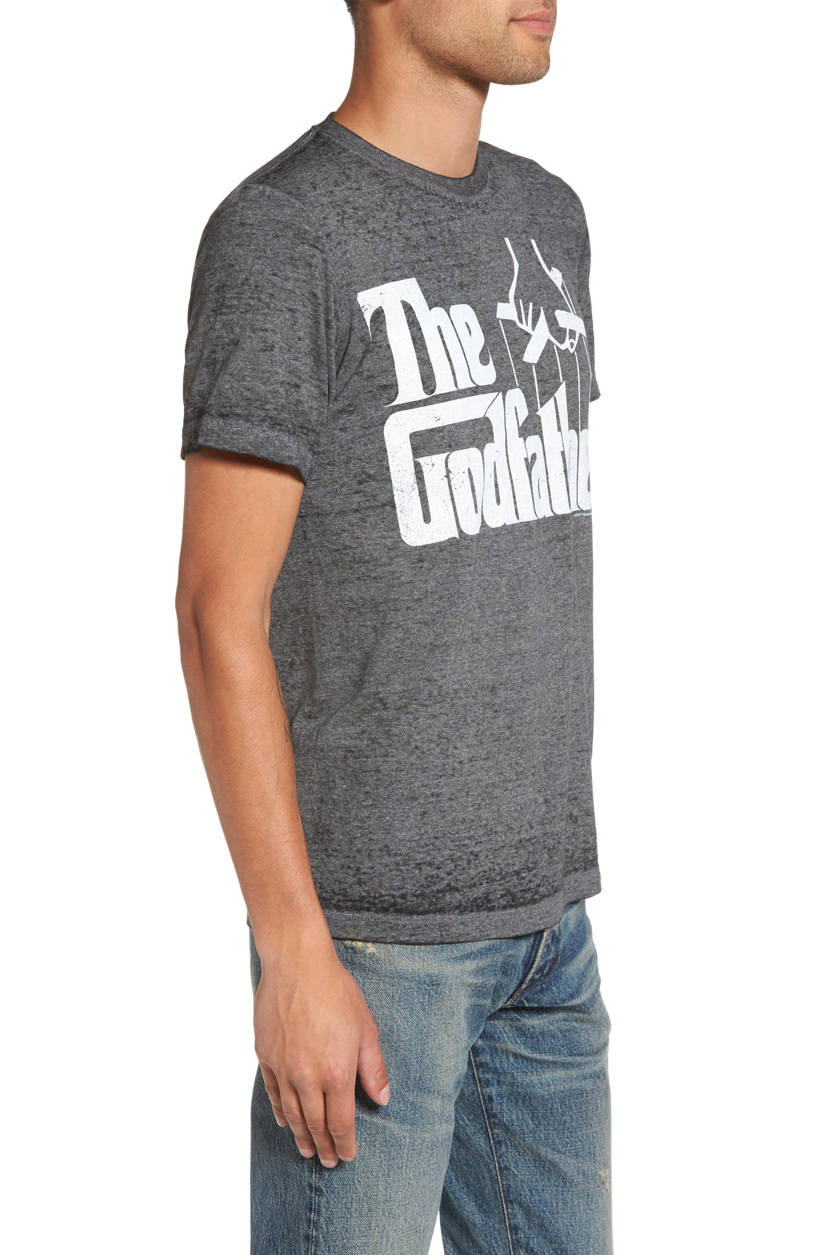 Burnout Graphic T-Shirt,                             Alternate thumbnail 3, color,                             Black The Godfather