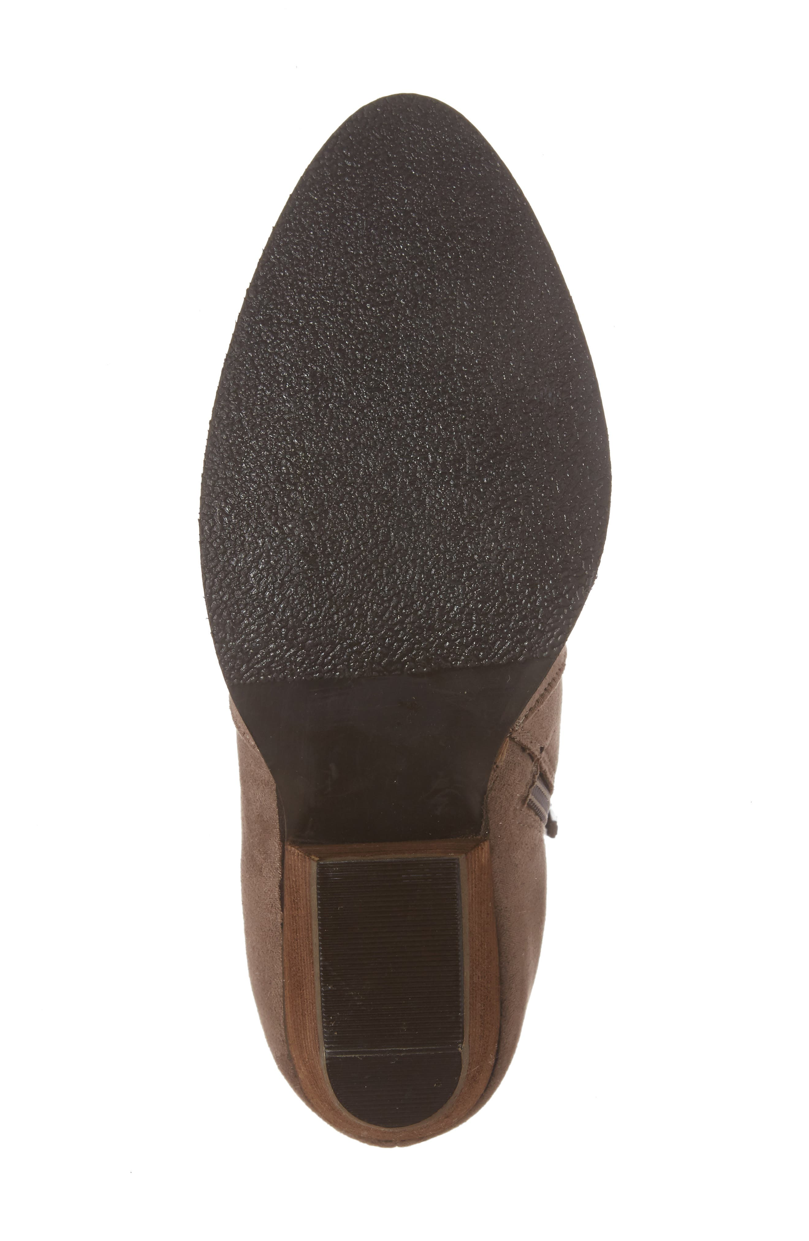 Axis Embroidered Bootie,                             Alternate thumbnail 6, color,                             Taupe Suede