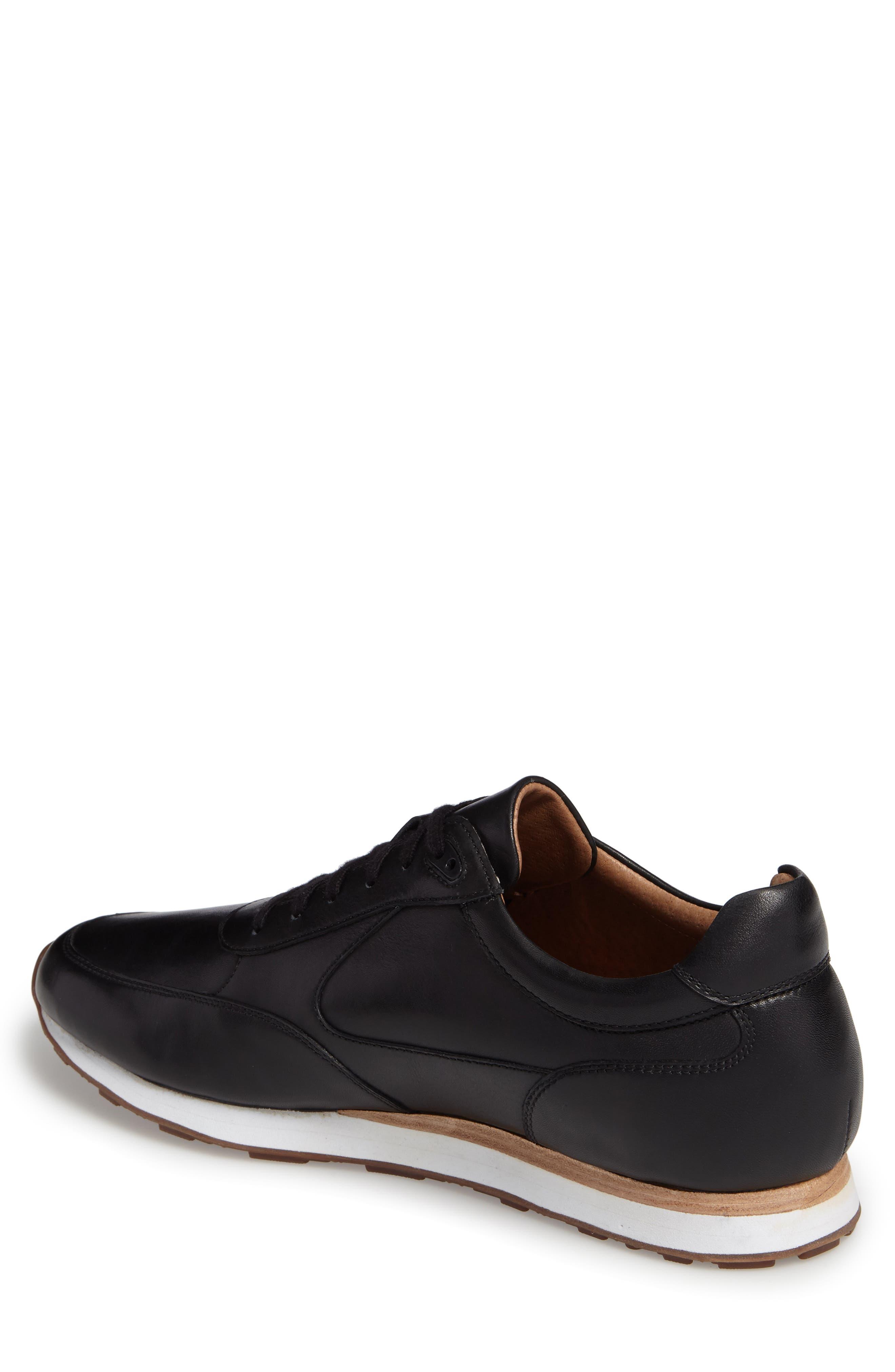Malek Sneaker,                             Alternate thumbnail 2, color,                             Black Leather