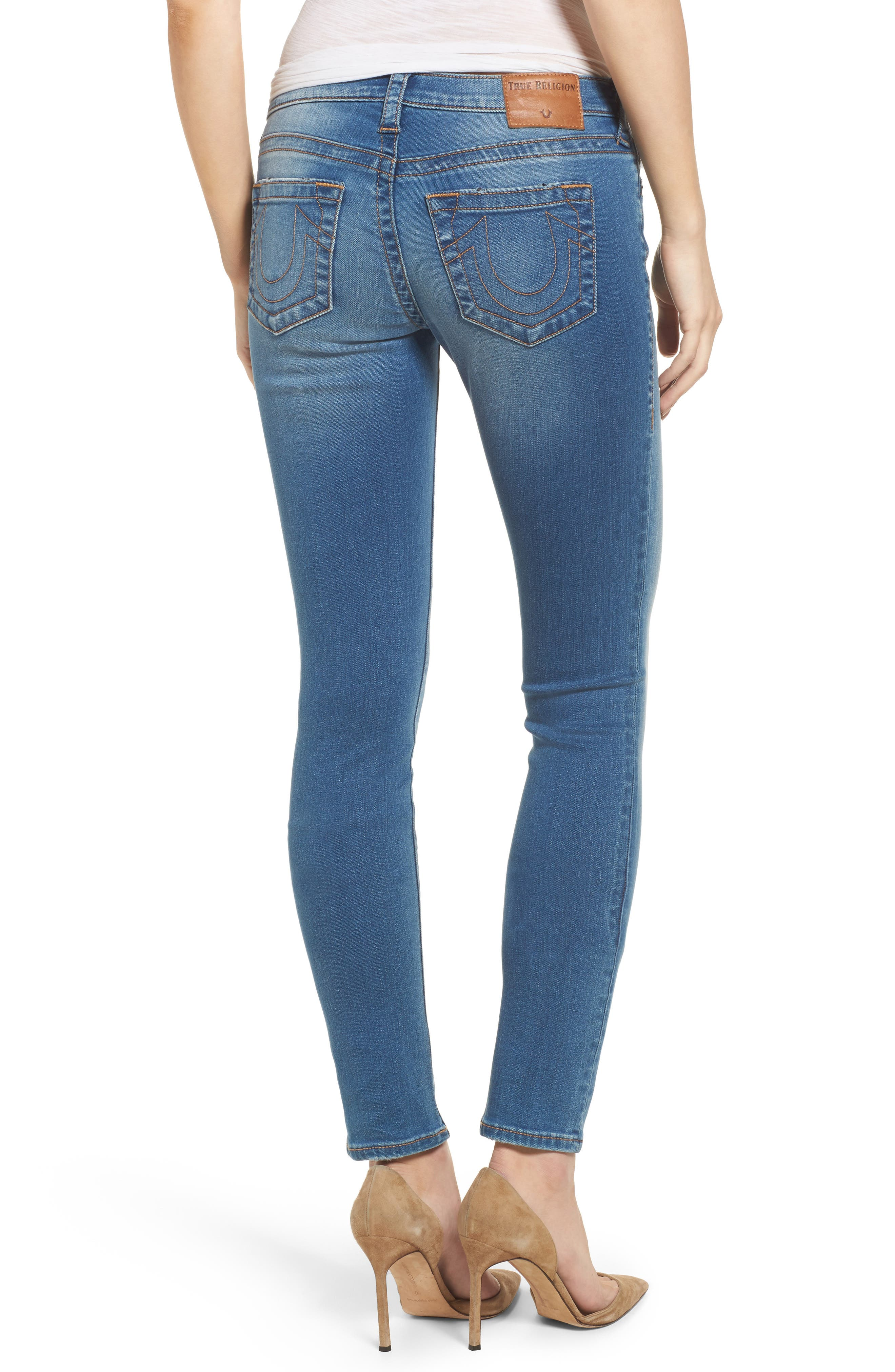Stella Low Rise Skinny Jeans,                             Alternate thumbnail 2, color,                             Nu Authentic Indigo