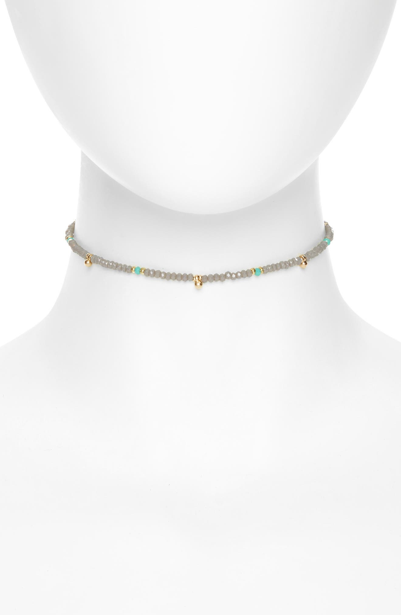 Canvas Jewelry Beaded Tassel Choker