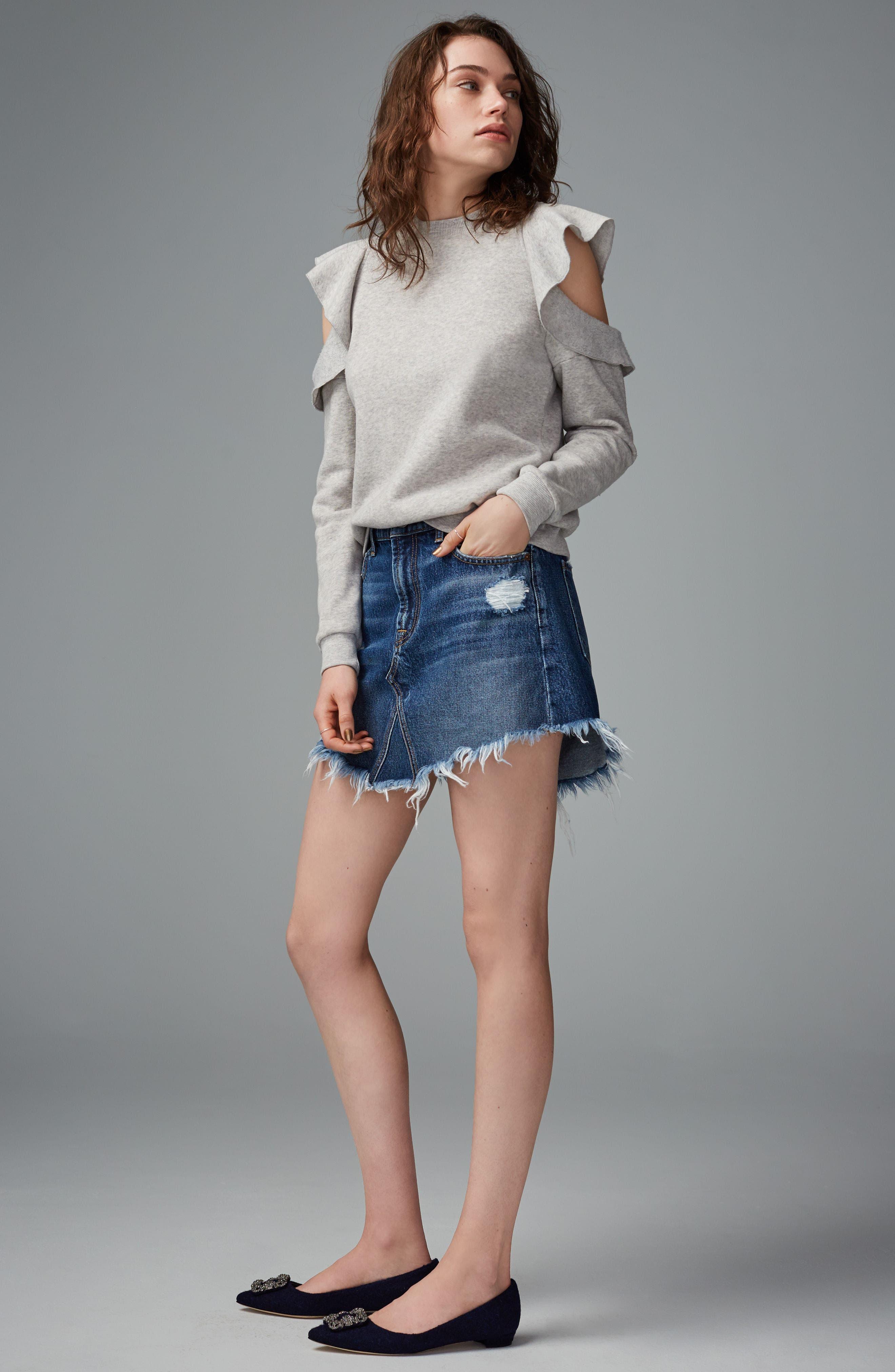 Alternate Image 2  - Rebecca Minkoff Gracie Cold Shoulder Sweatshirt