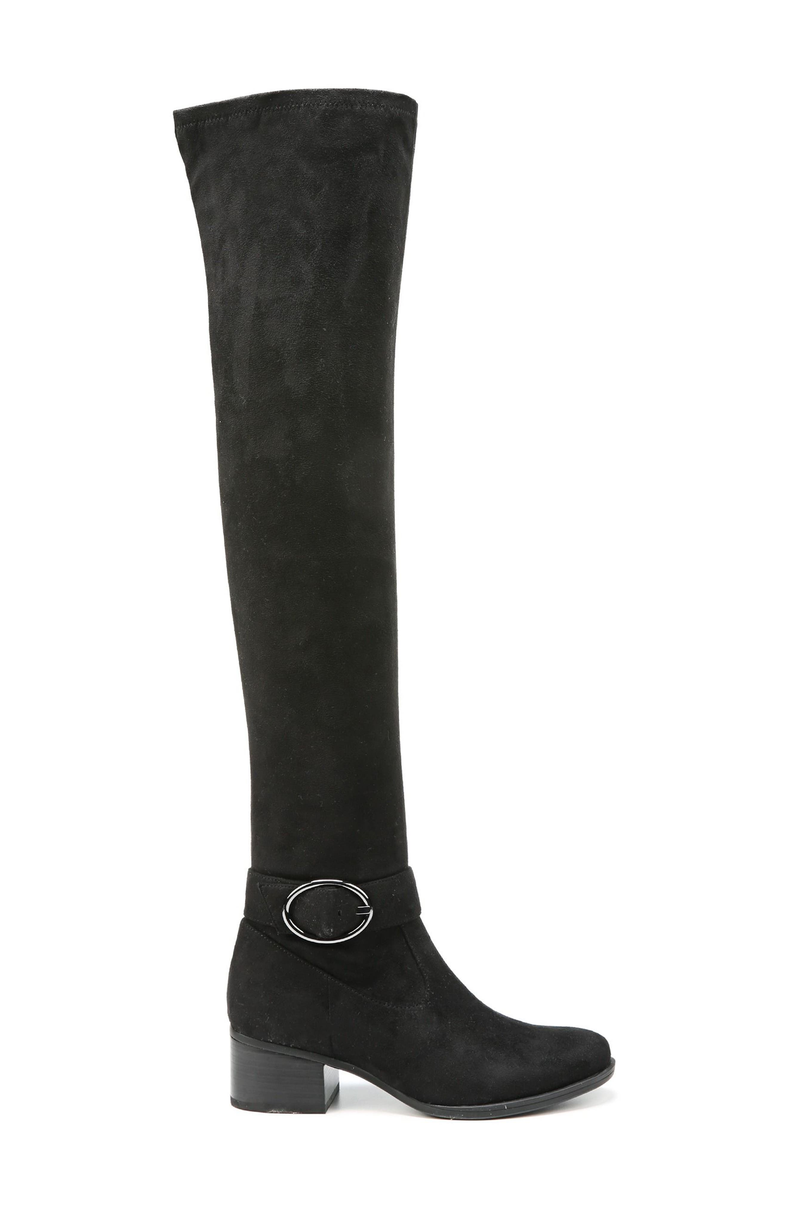 Dalyn Over the Knee Boot,                             Alternate thumbnail 3, color,                             Black Stretch Microfiber
