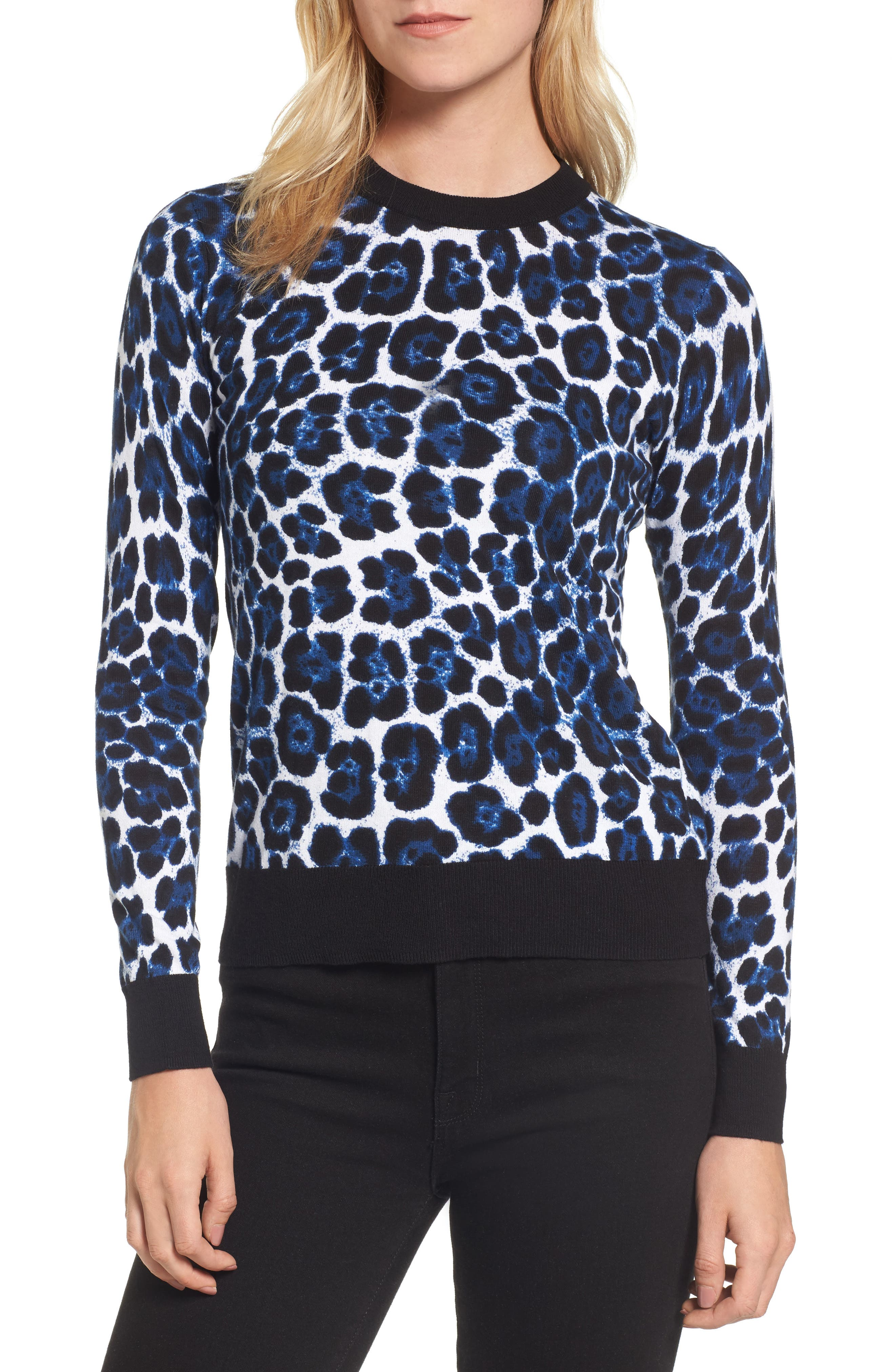 MICHAEL Michael Kors Cheetah Print Sweater