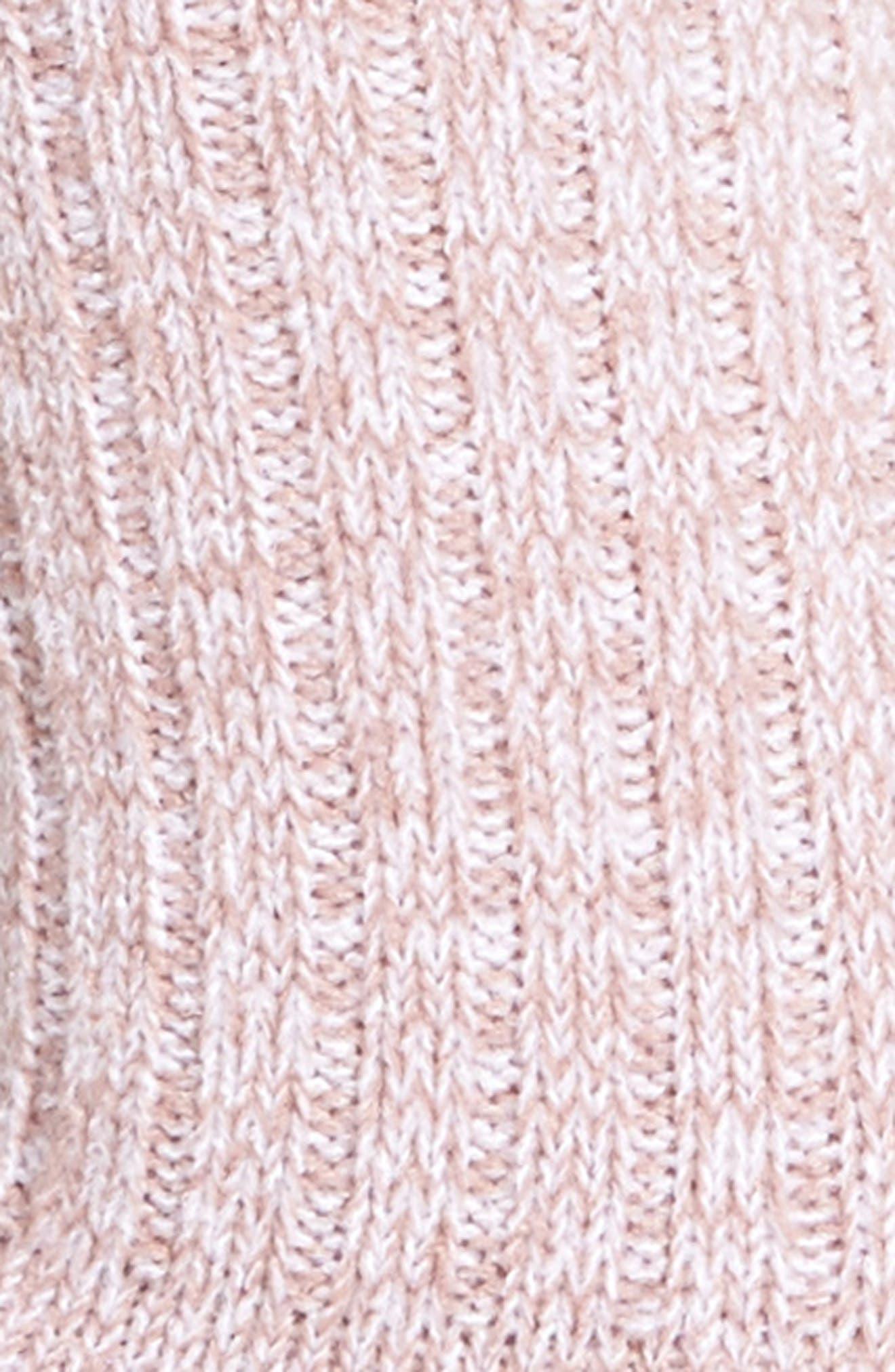 Ribbed Crew Socks,                             Alternate thumbnail 2, color,                             Dusk