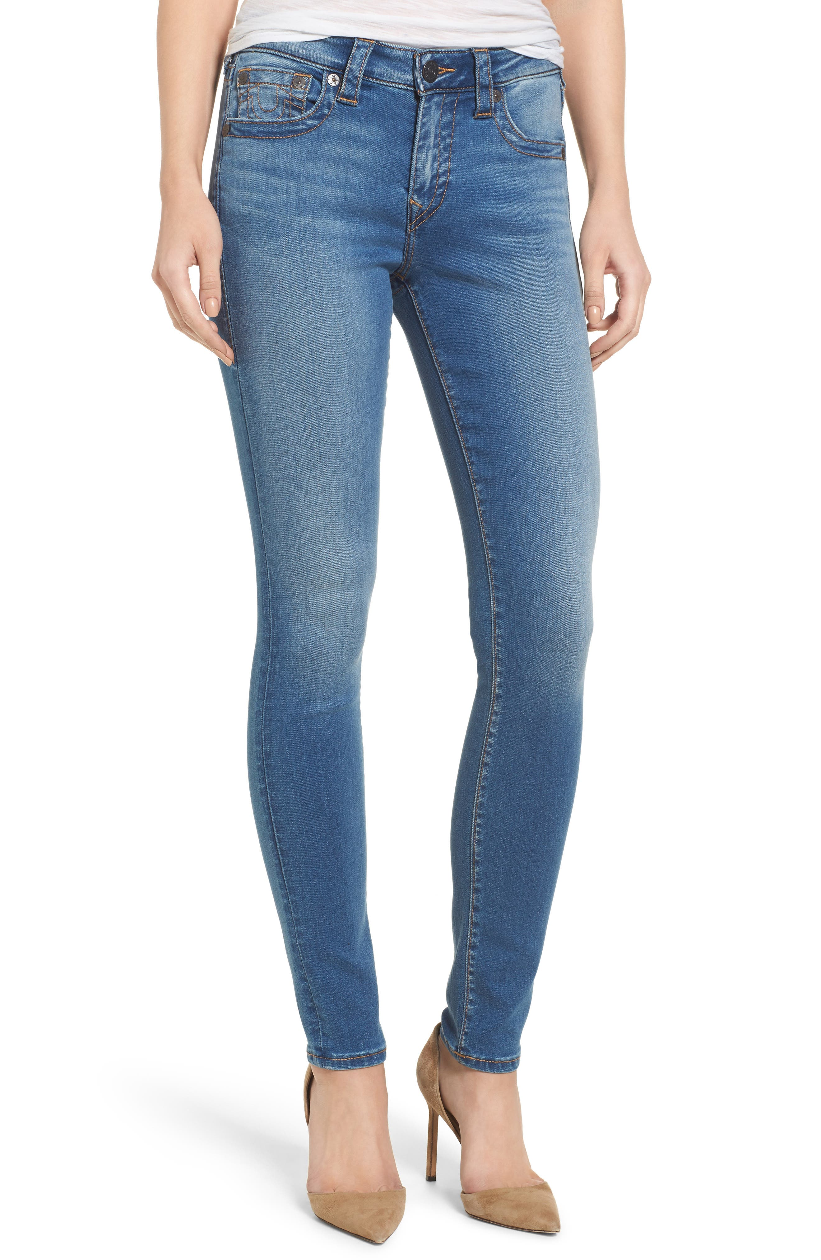 Alternate Image 1 Selected - True Religion Brand Jeans Jennie Curvy Skinny Jeans (Nu Authentic Indigo)