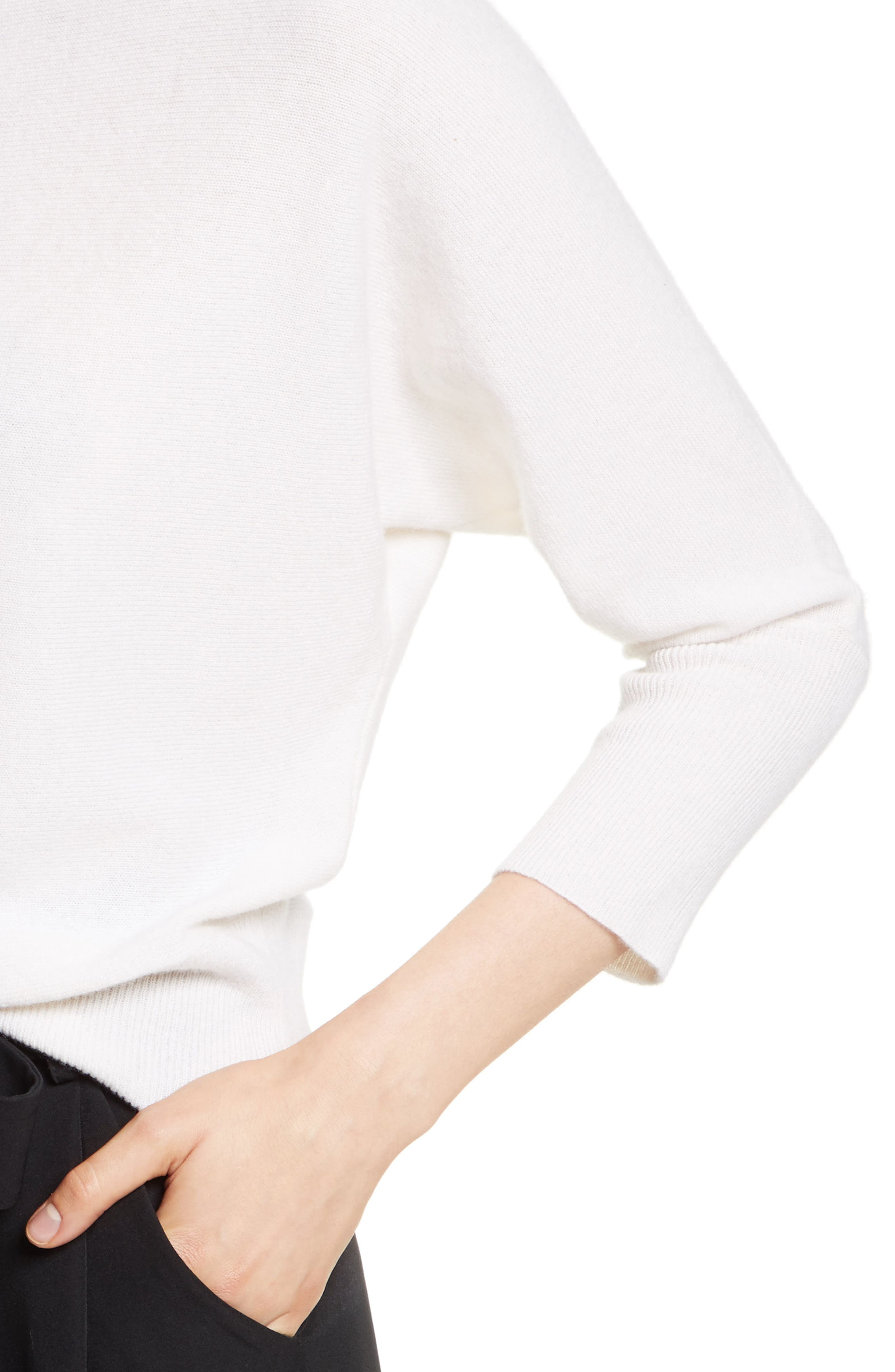 Alternate Image 4  - Milly Dolman Cashmere Sweater