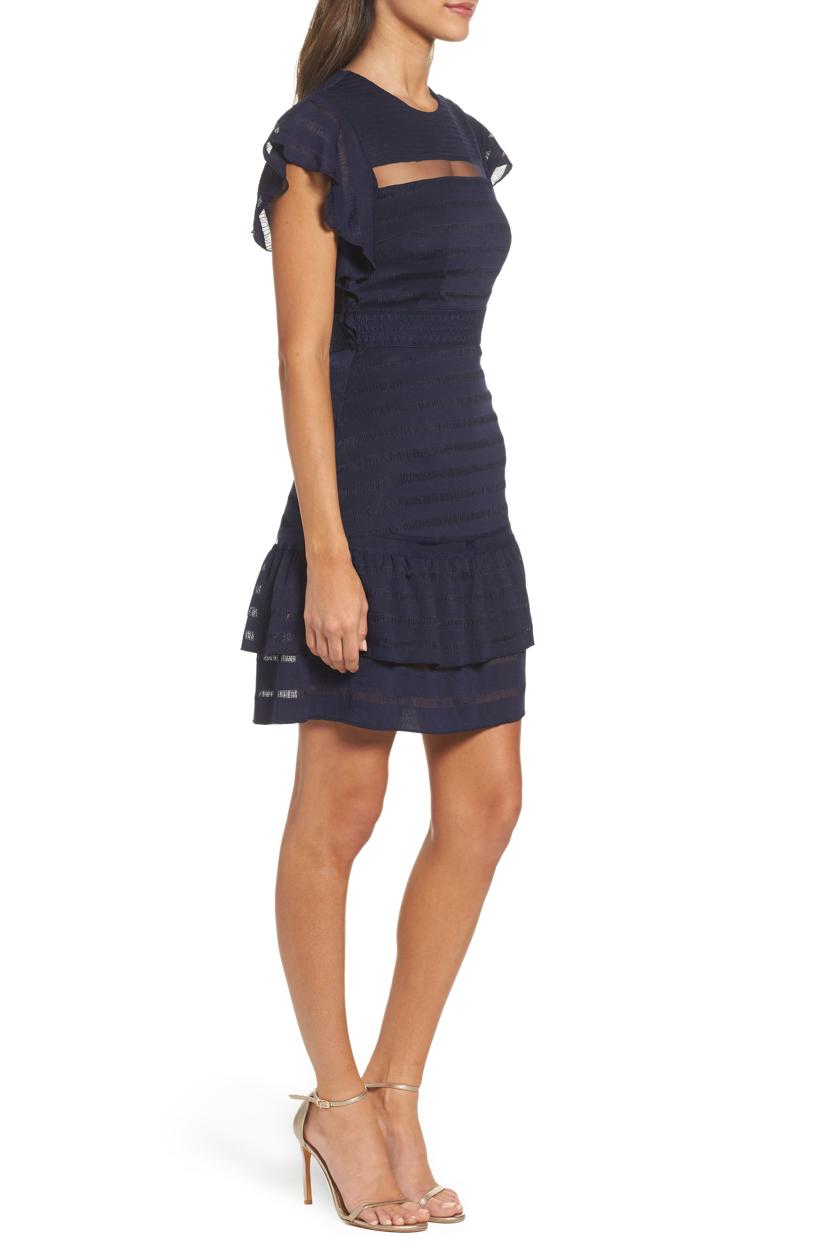 Alternate Image 3  - Foxiedox Elsie Ruffle Sleeve Fit & Flare Dress