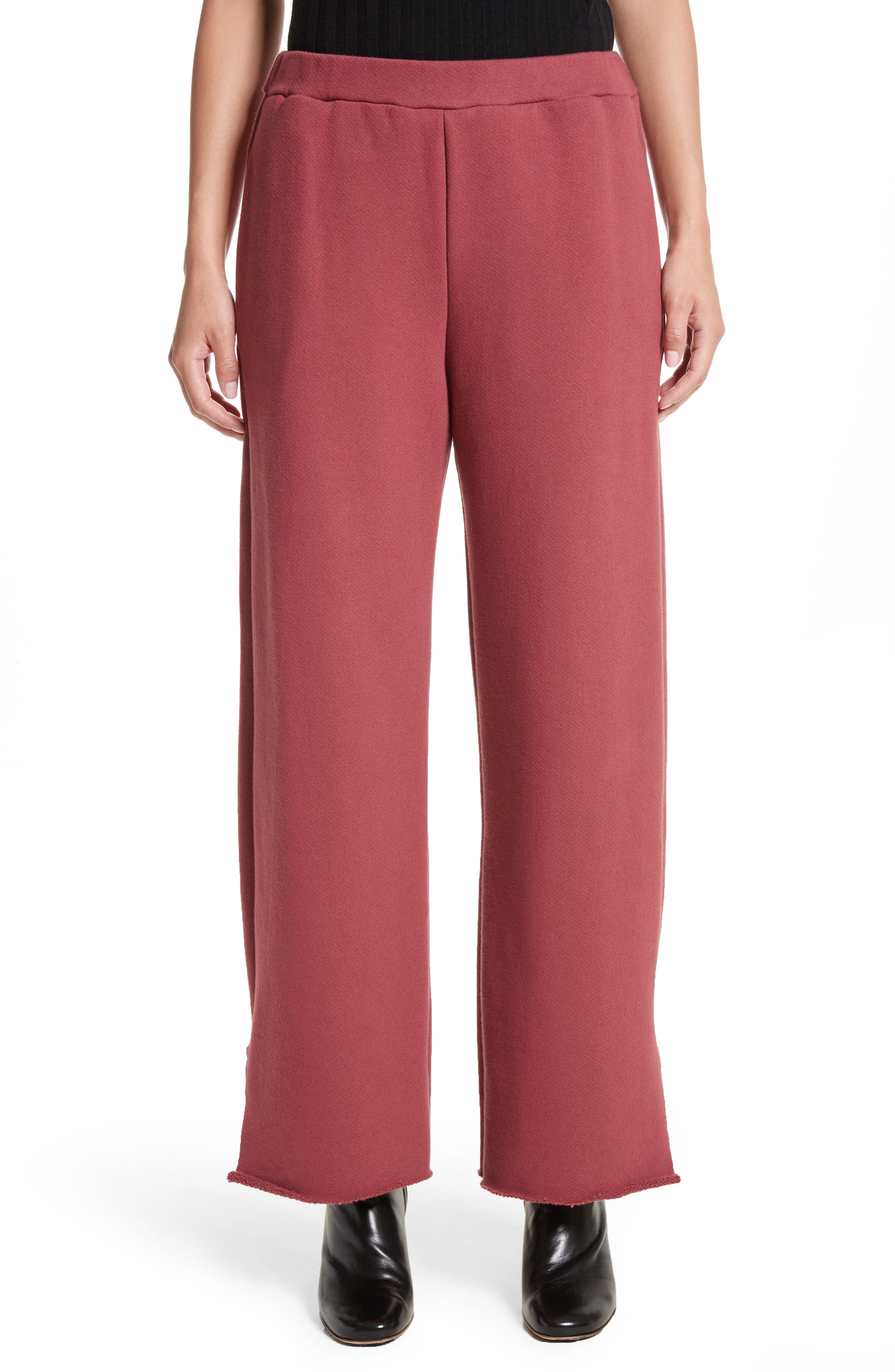 Canal French Terry Sweatpants,                             Main thumbnail 1, color,                             Tegola Pink