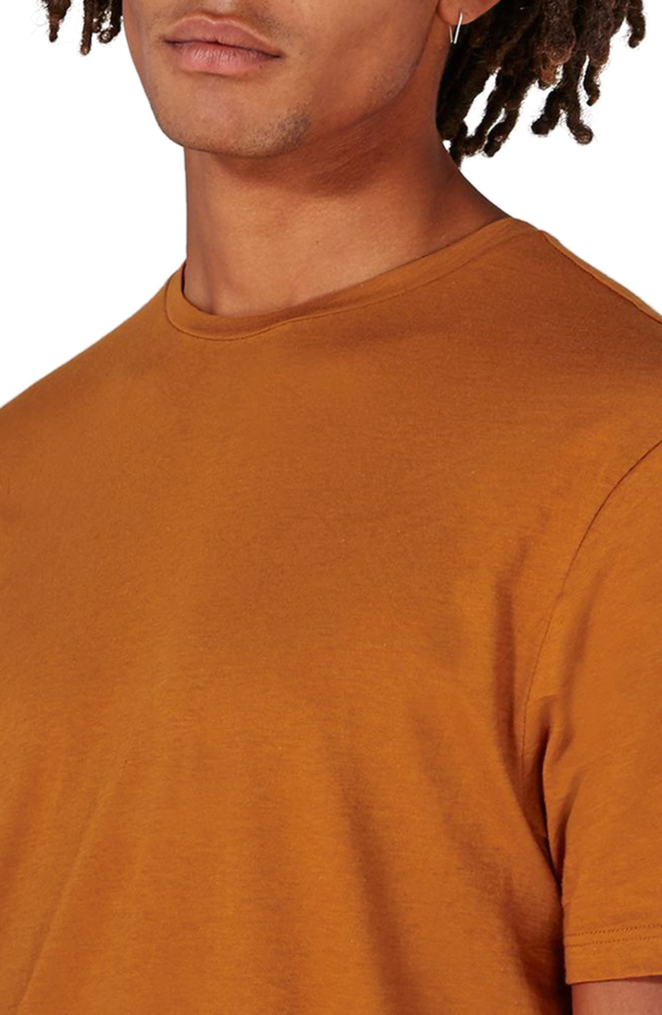 Crewneck T-Shirt,                             Alternate thumbnail 3, color,                             Rust Orange