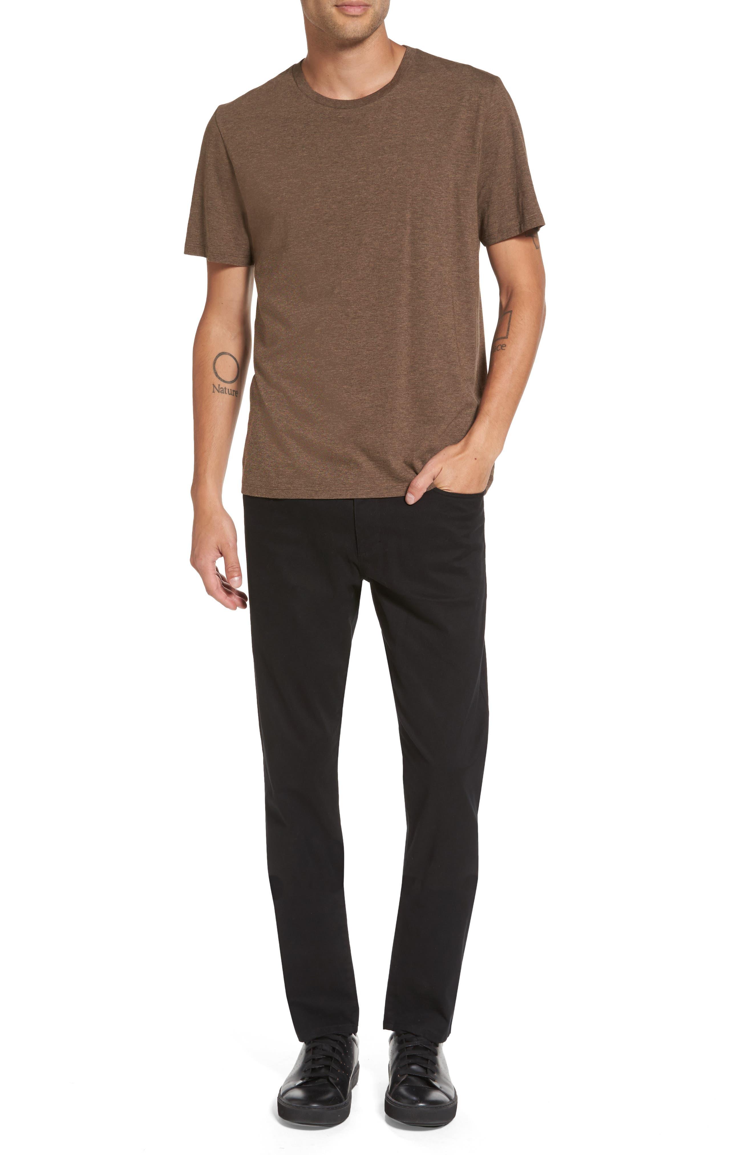 Regular Fit Crewneck T-Shirt,                             Alternate thumbnail 7, color,                             Bark