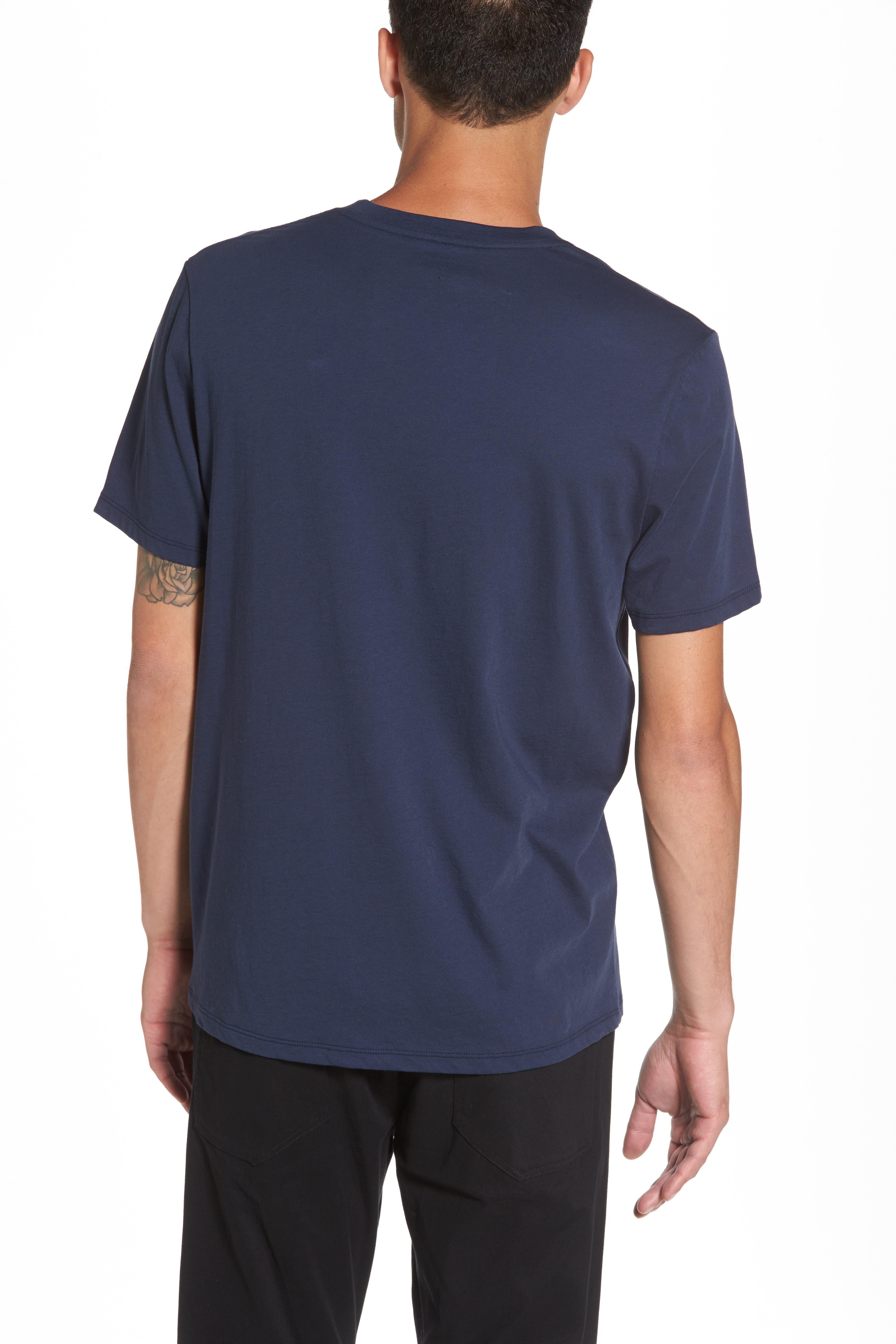 Regular Fit V-Neck T-Shirt,                             Alternate thumbnail 2, color,                             Starry Night