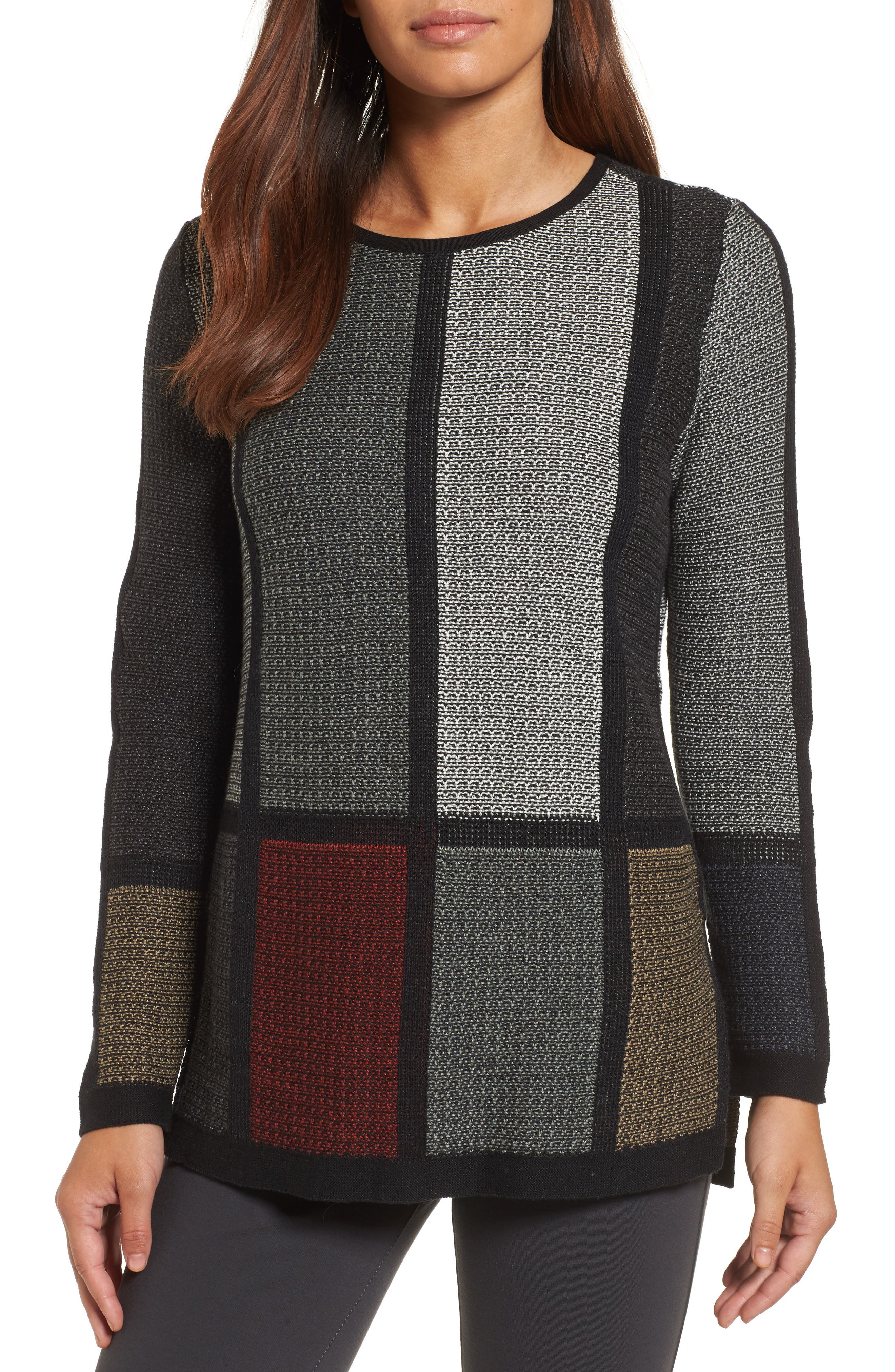 Alternate Image 1 Selected - NIC+ZOE Around the Block Sweater (Regular & Petite)