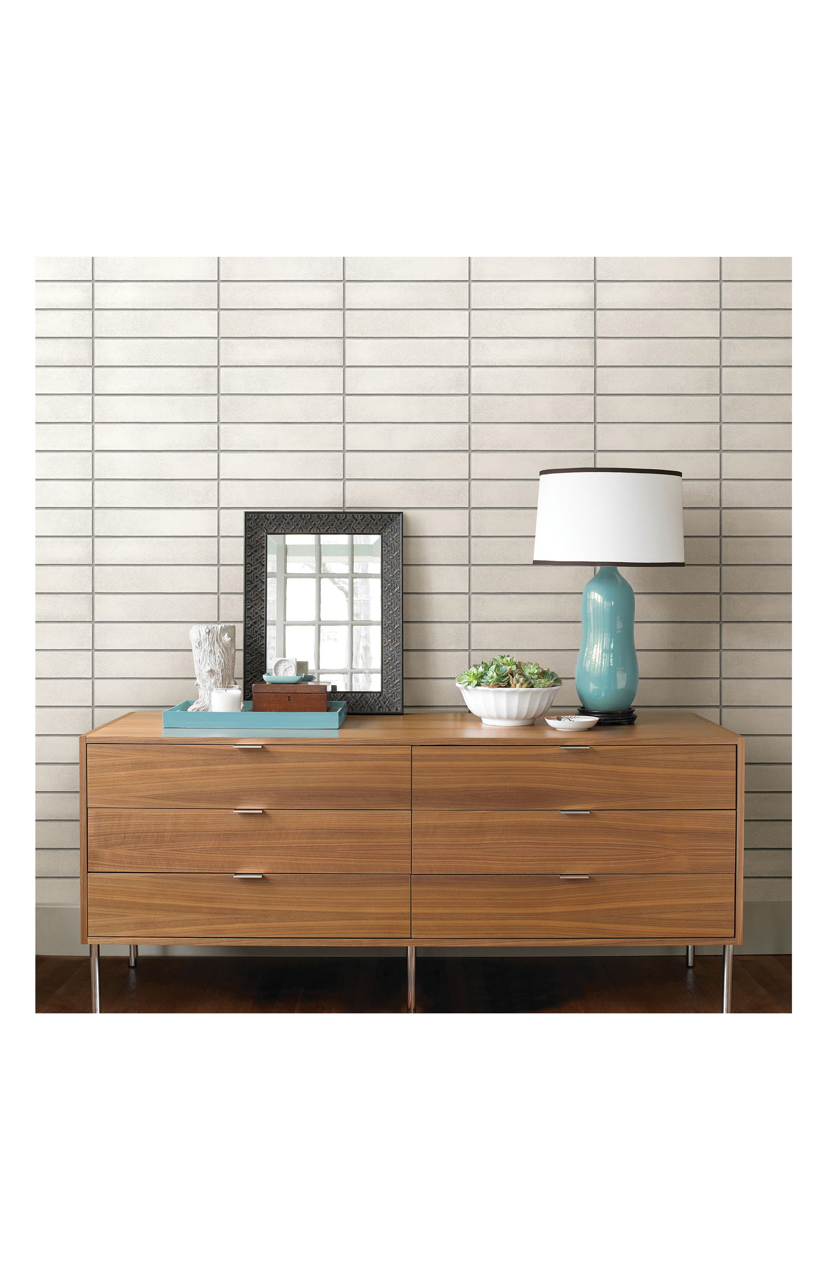 Alternate Image 1 Selected - Wallpops Mid Century Brick Peel & Stick Vinyl Wallpaper